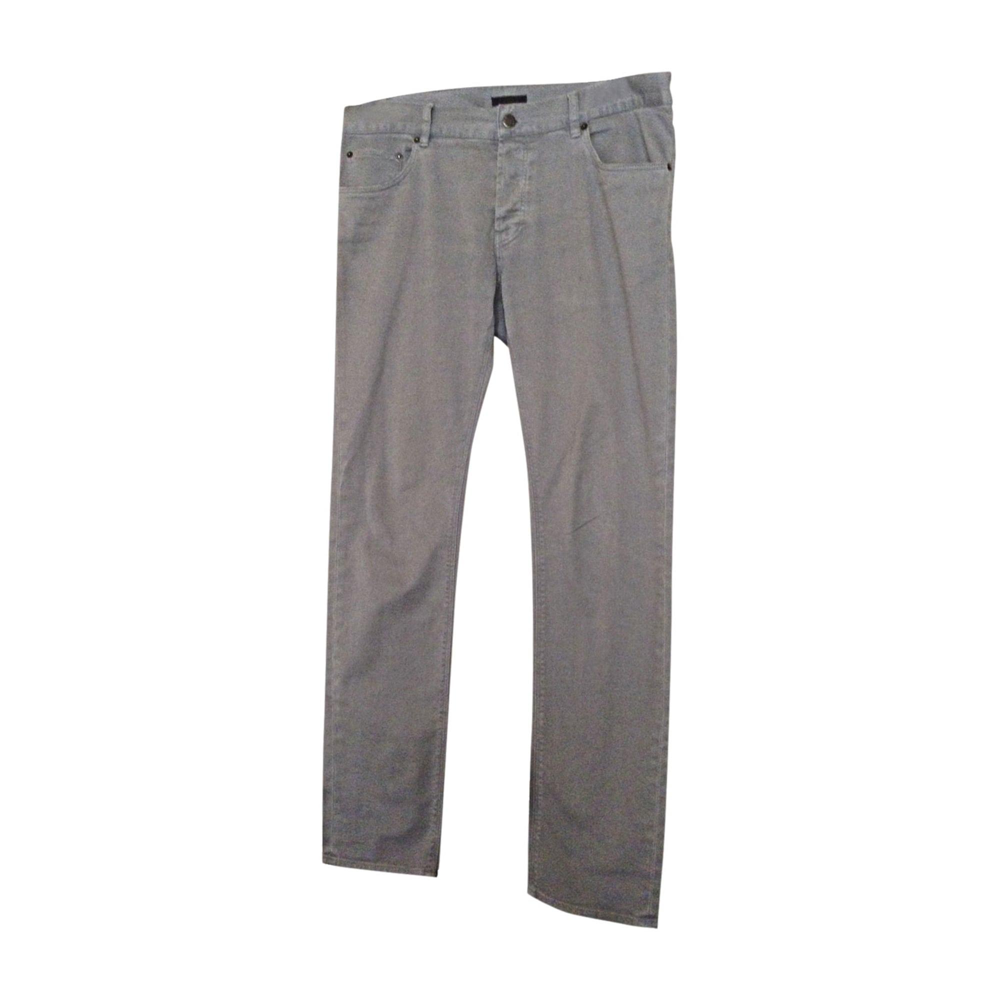 Jeans droit PRADA Gris, anthracite