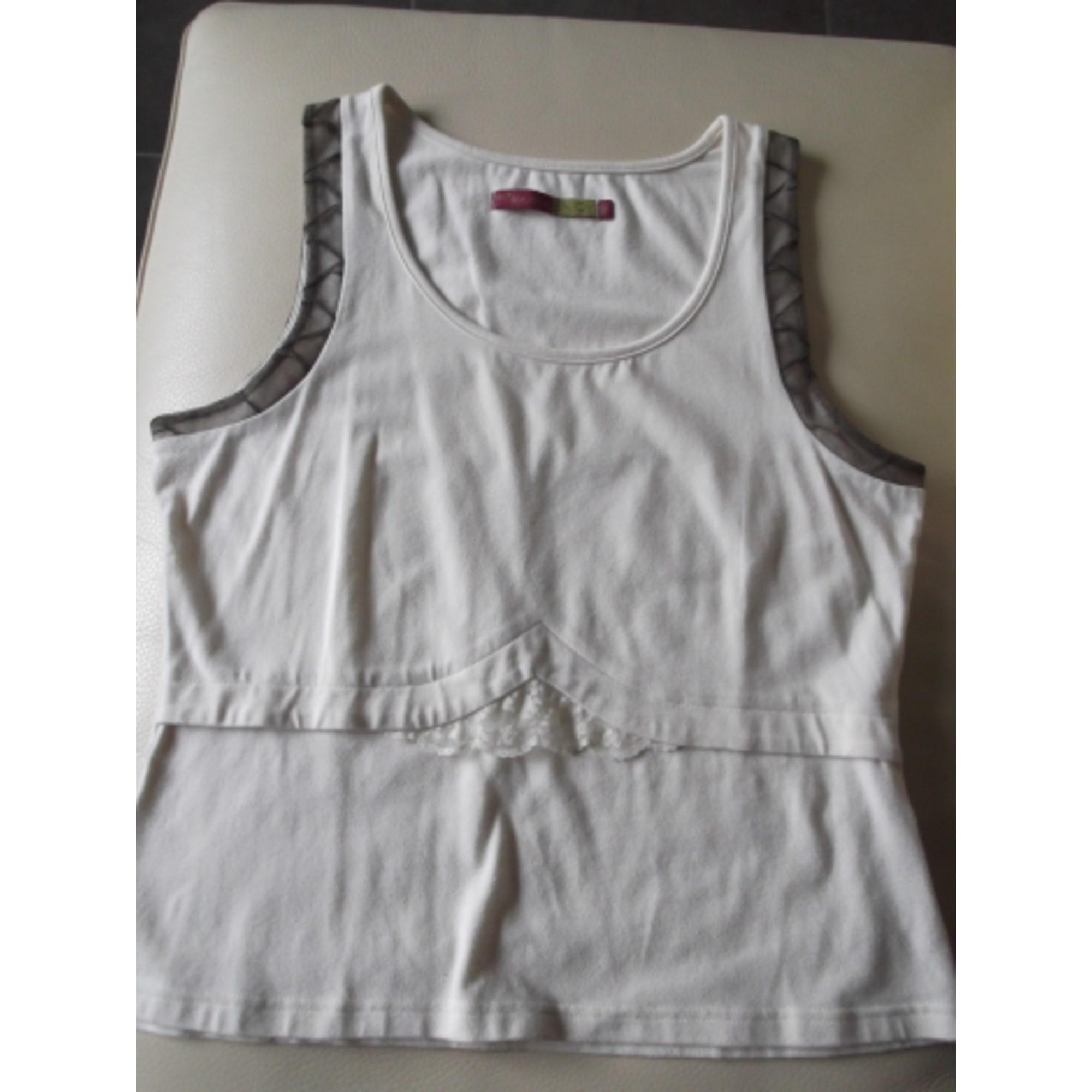 Top, tee-shirt ENJOY Blanc, blanc cassé, écru