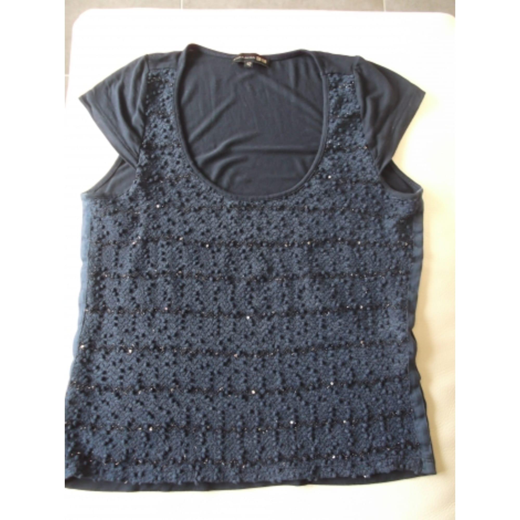 Top, tee-shirt EVA KAYAN Bleu, bleu marine, bleu turquoise