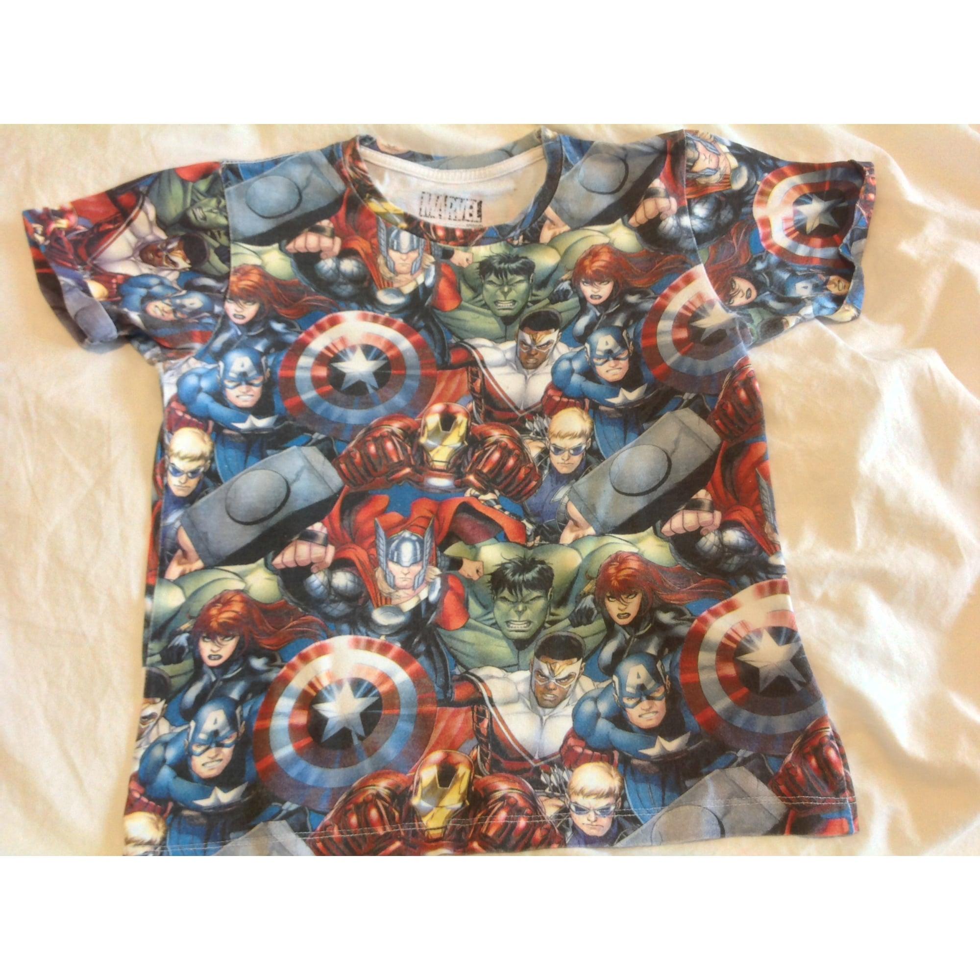 Tee-shirt LITTLE ELEVEN PARIS multicolores avengers