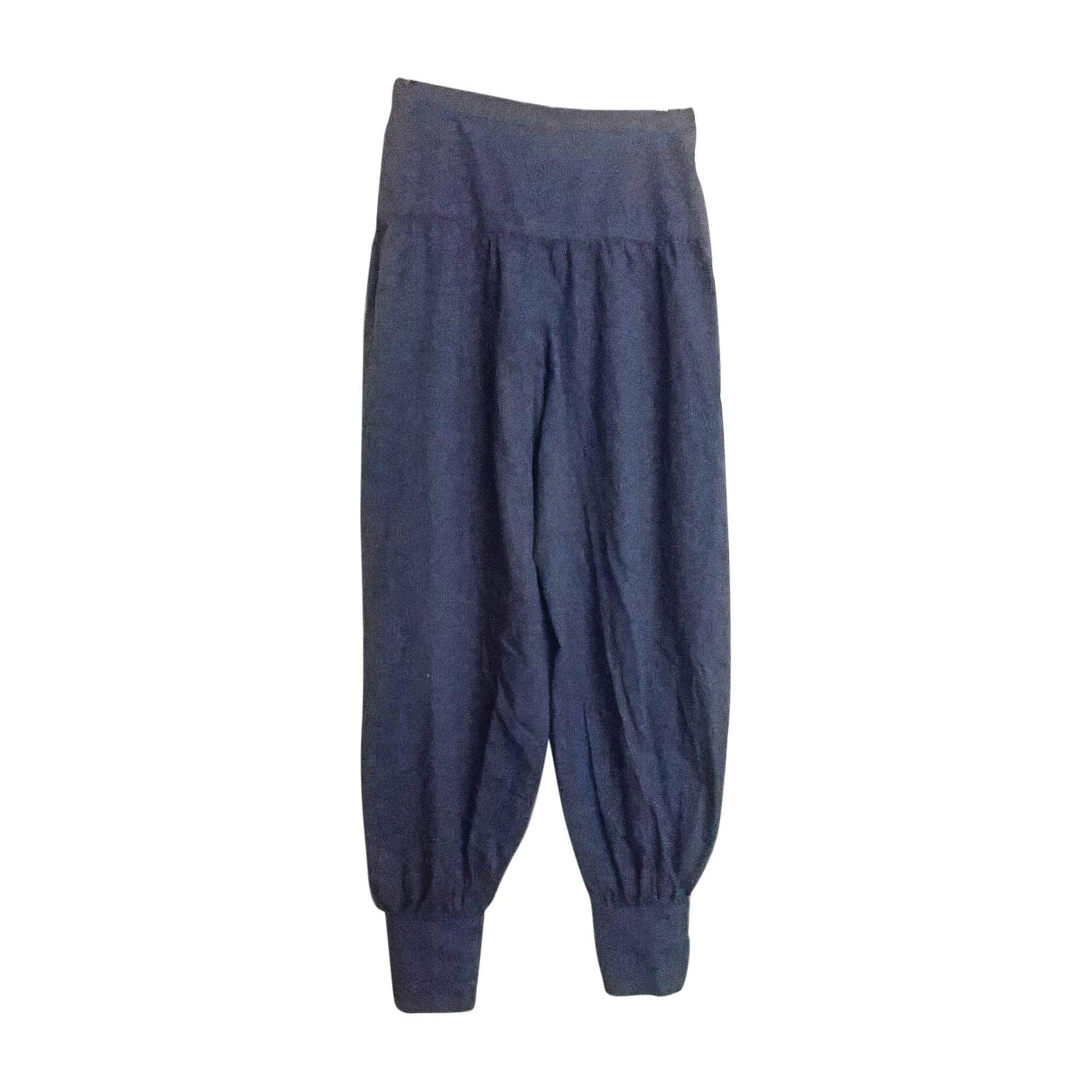 Pantalon harem VALENTINO Bleu, bleu marine, bleu turquoise