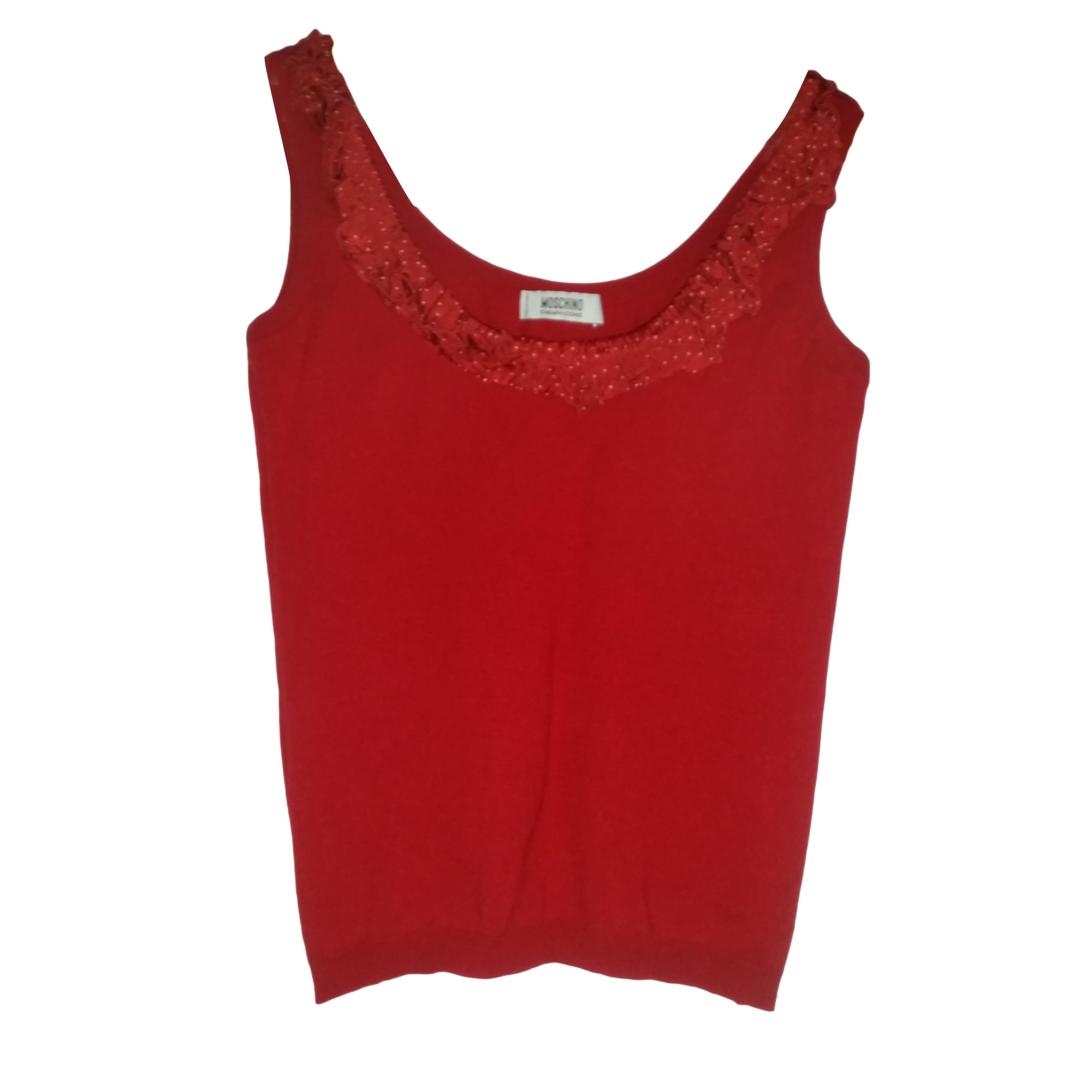 Top, tee-shirt MOSCHINO Rouge, bordeaux