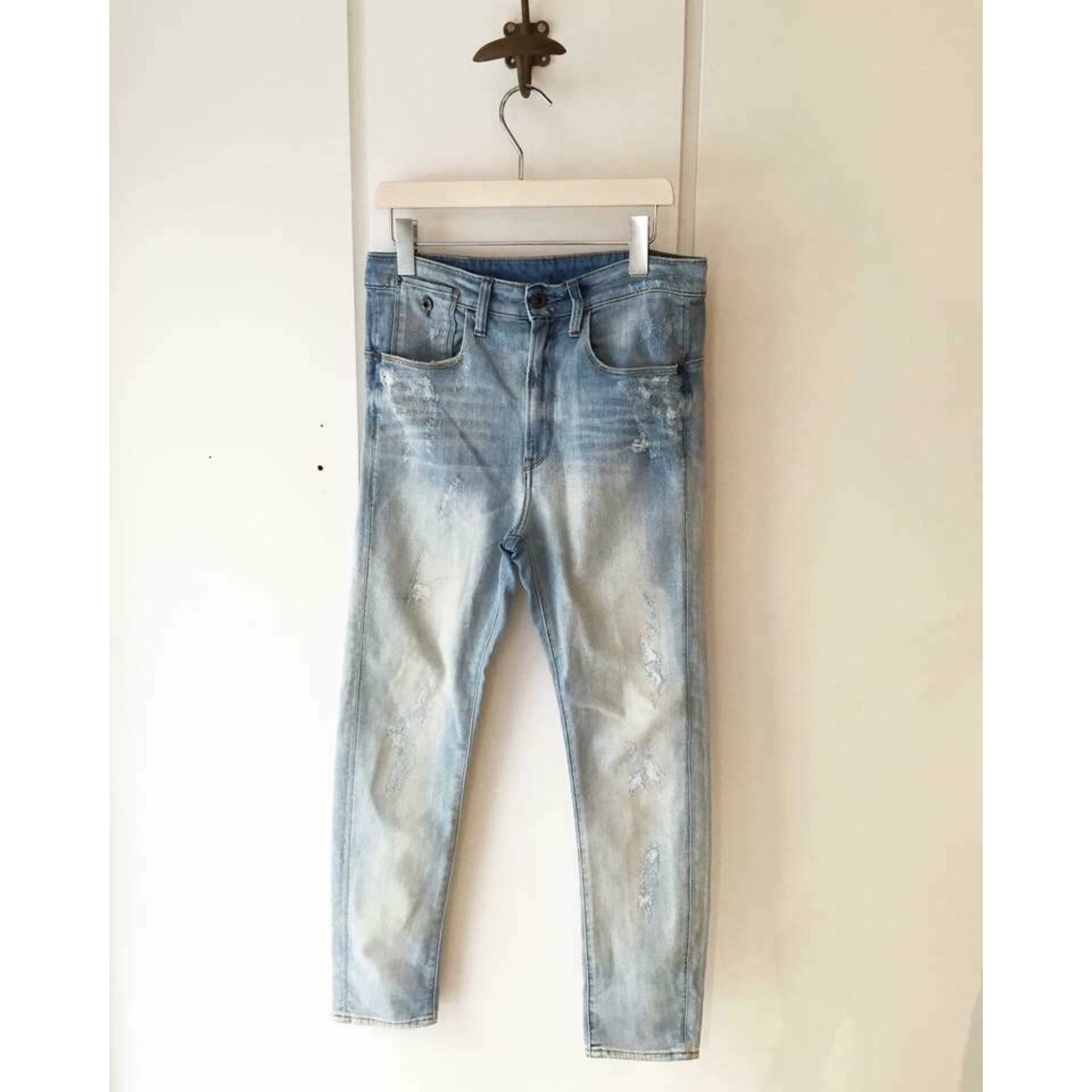 Jeans large, boyfriend G-STAR Bleu, bleu marine, bleu turquoise
