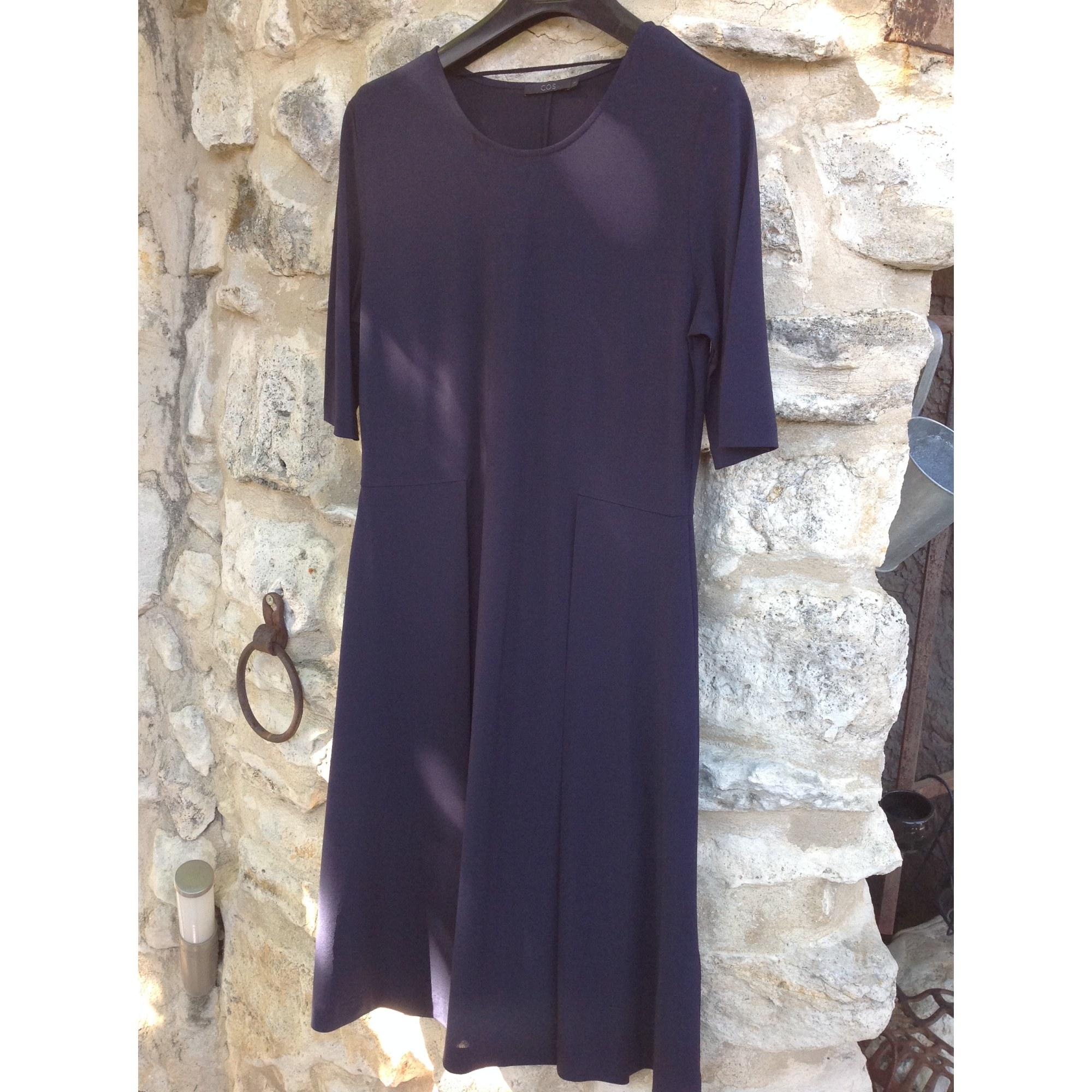 Robe mi-longue COS Bleu marine