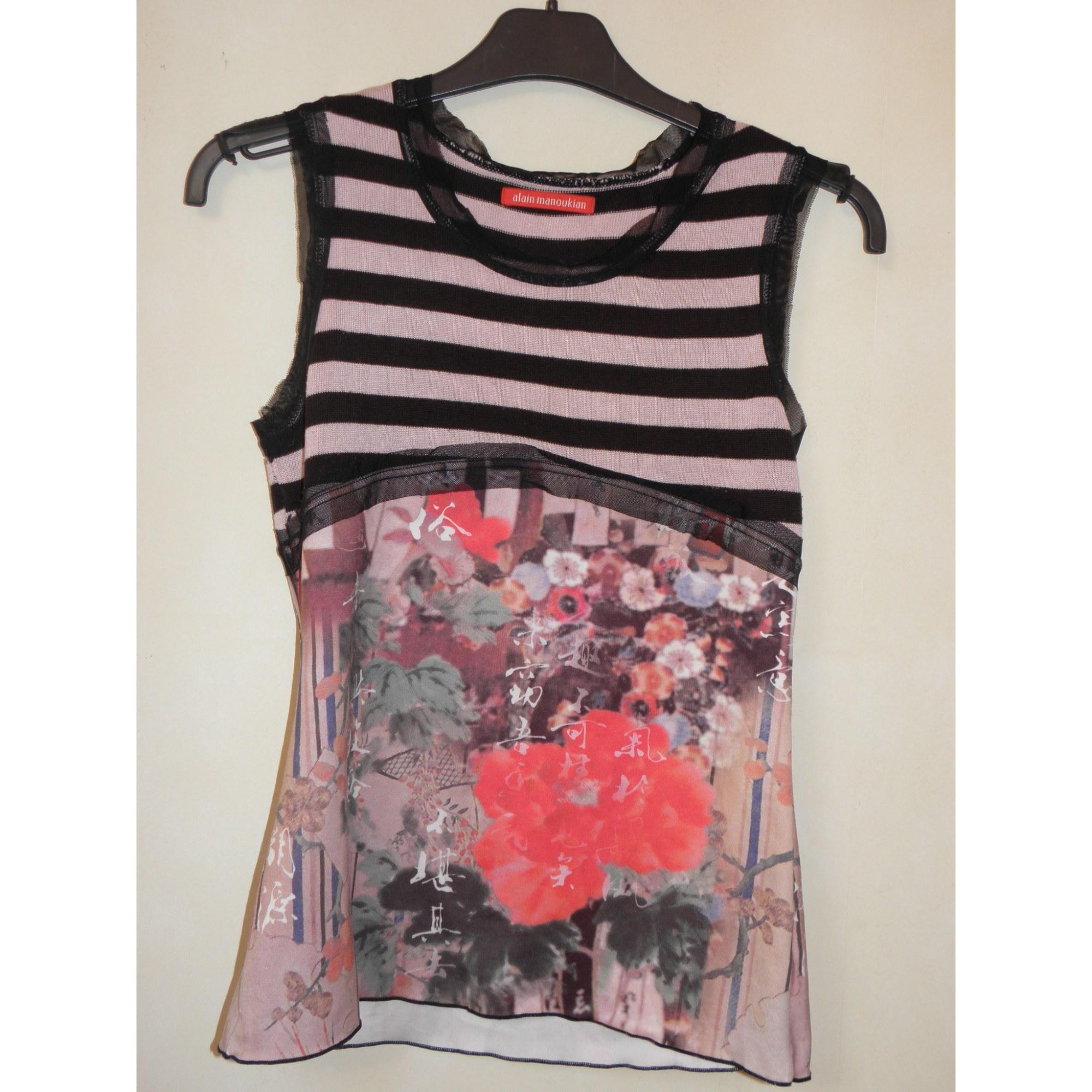 Top, tee-shirt ALAIN MANOUKIAN Rose, fuschia, vieux rose