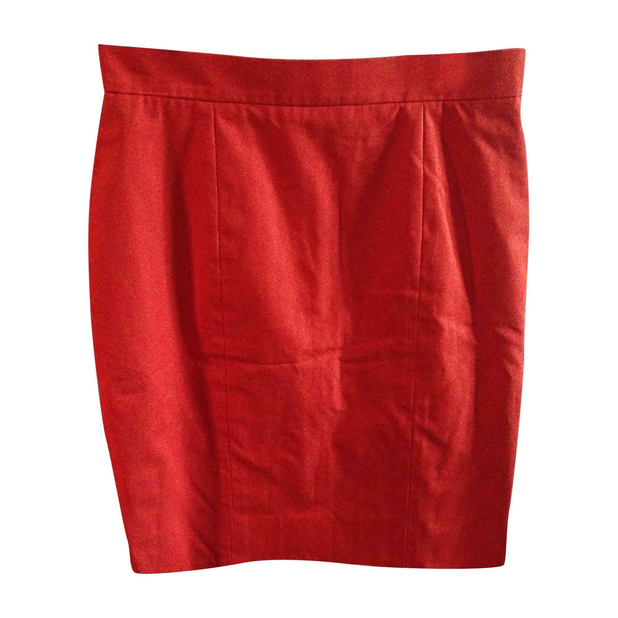 Jupe mi-longue CHANEL Rouge, bordeaux