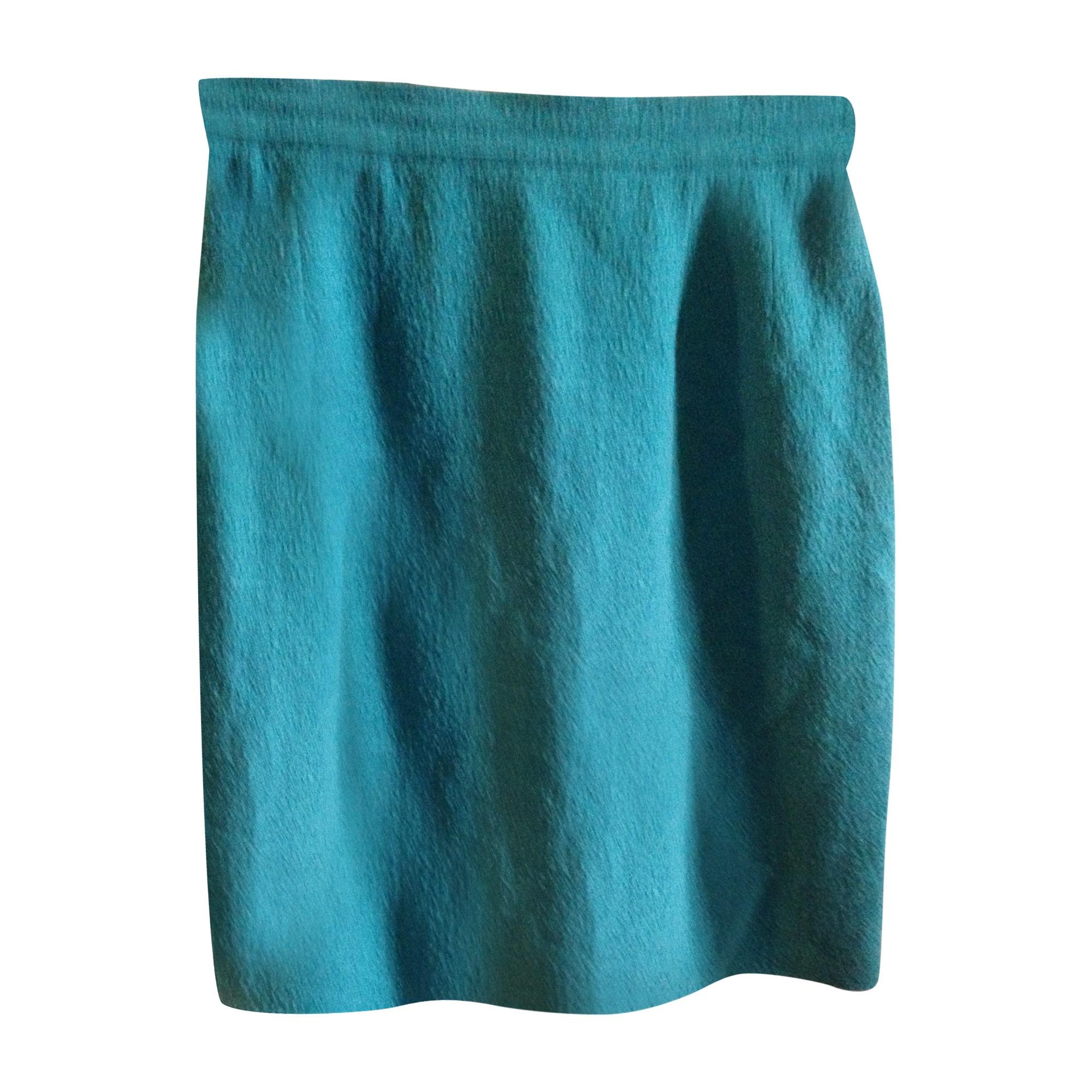 Jupe mi-longue CHANEL Bleu, bleu marine, bleu turquoise