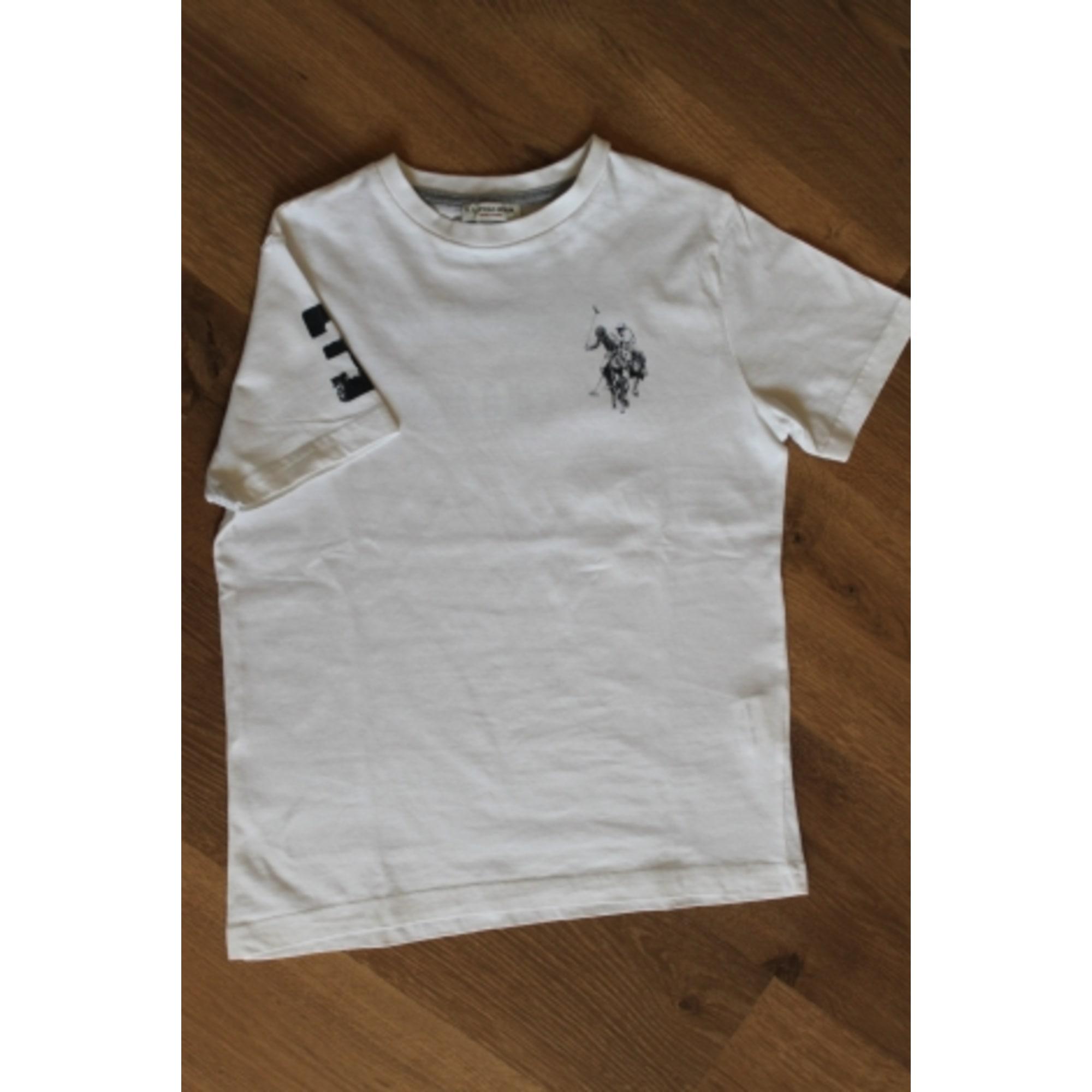 Tee-shirt US POLO ASSN Blanc, blanc cassé, écru