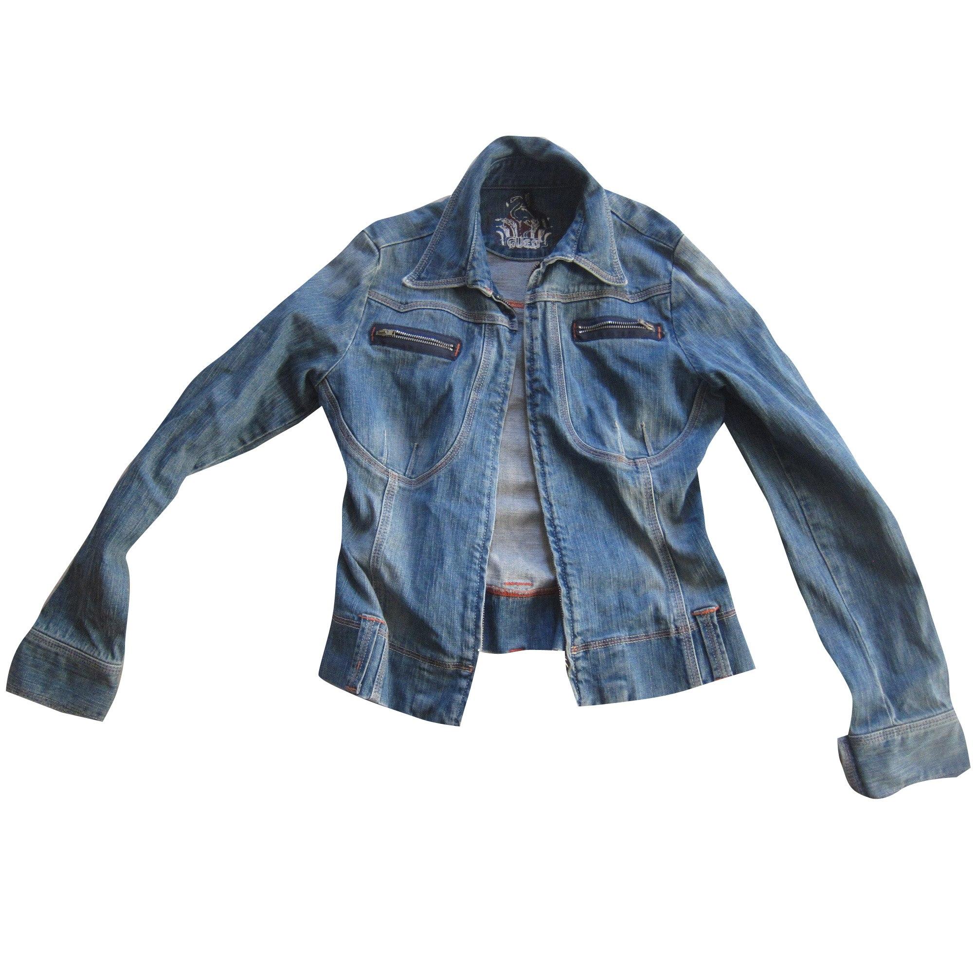 Veste en jean GUESS Bleu, bleu marine, bleu turquoise