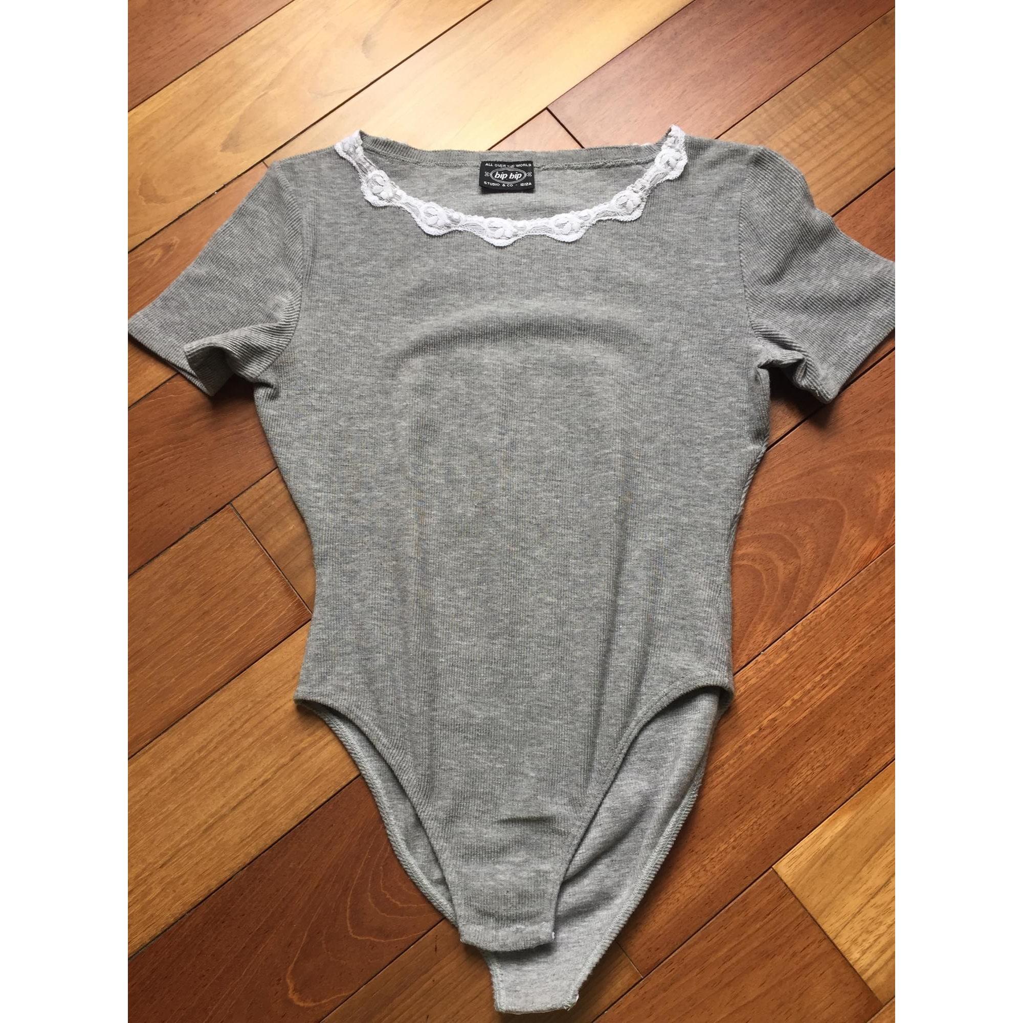 Top, tee-shirt BIP BIP Gris, anthracite