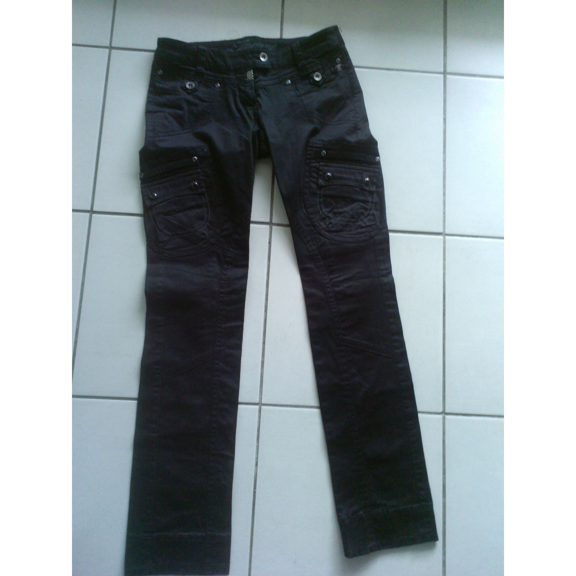 Pantalon droit TIMEZONE Noir