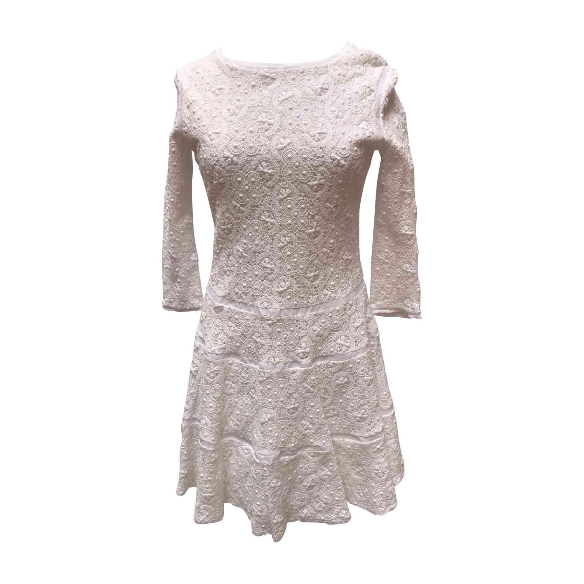 Robe courte CHLOÉ Blanc, blanc cassé, écru