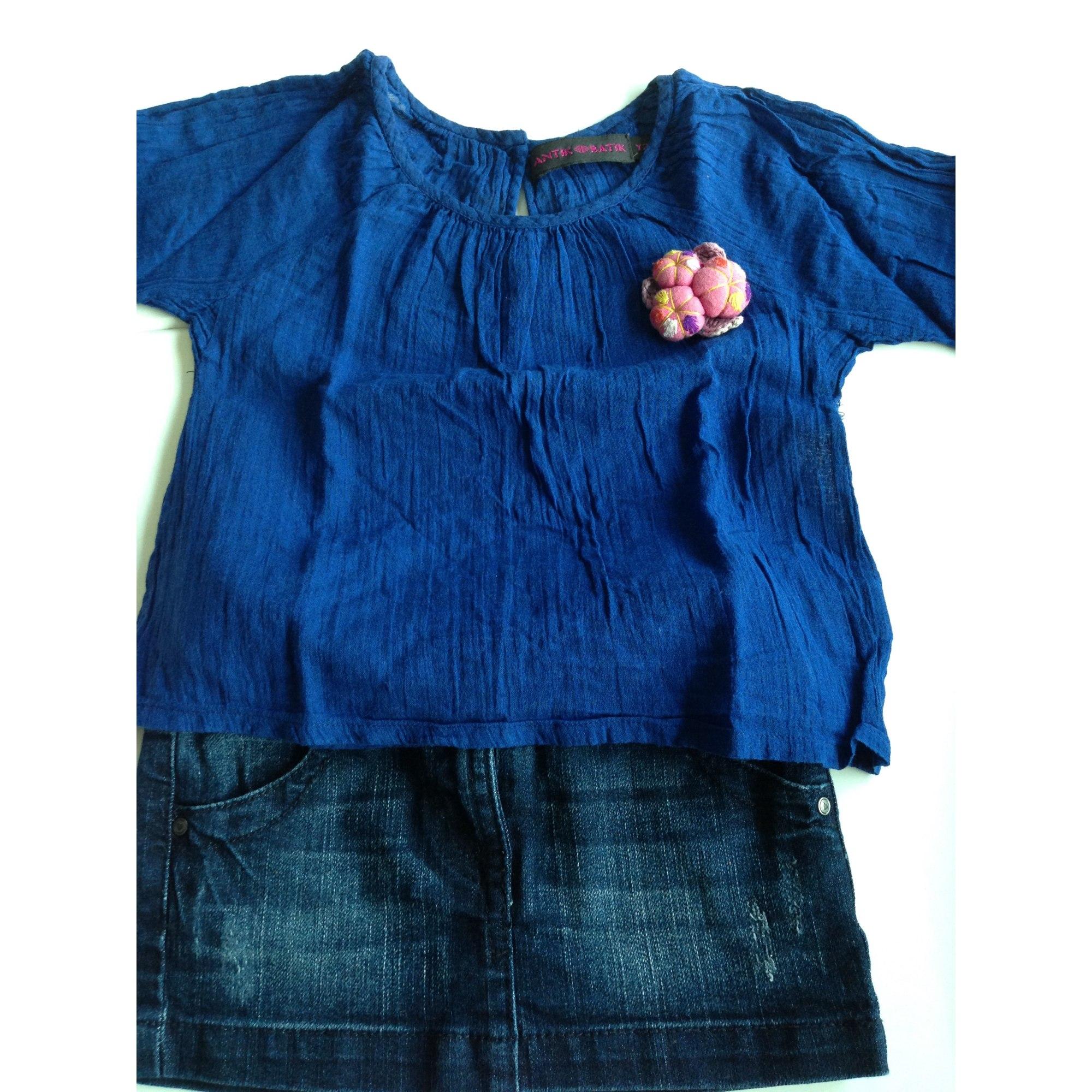 Blouse ANTIK BATIK Bleu, bleu marine, bleu turquoise