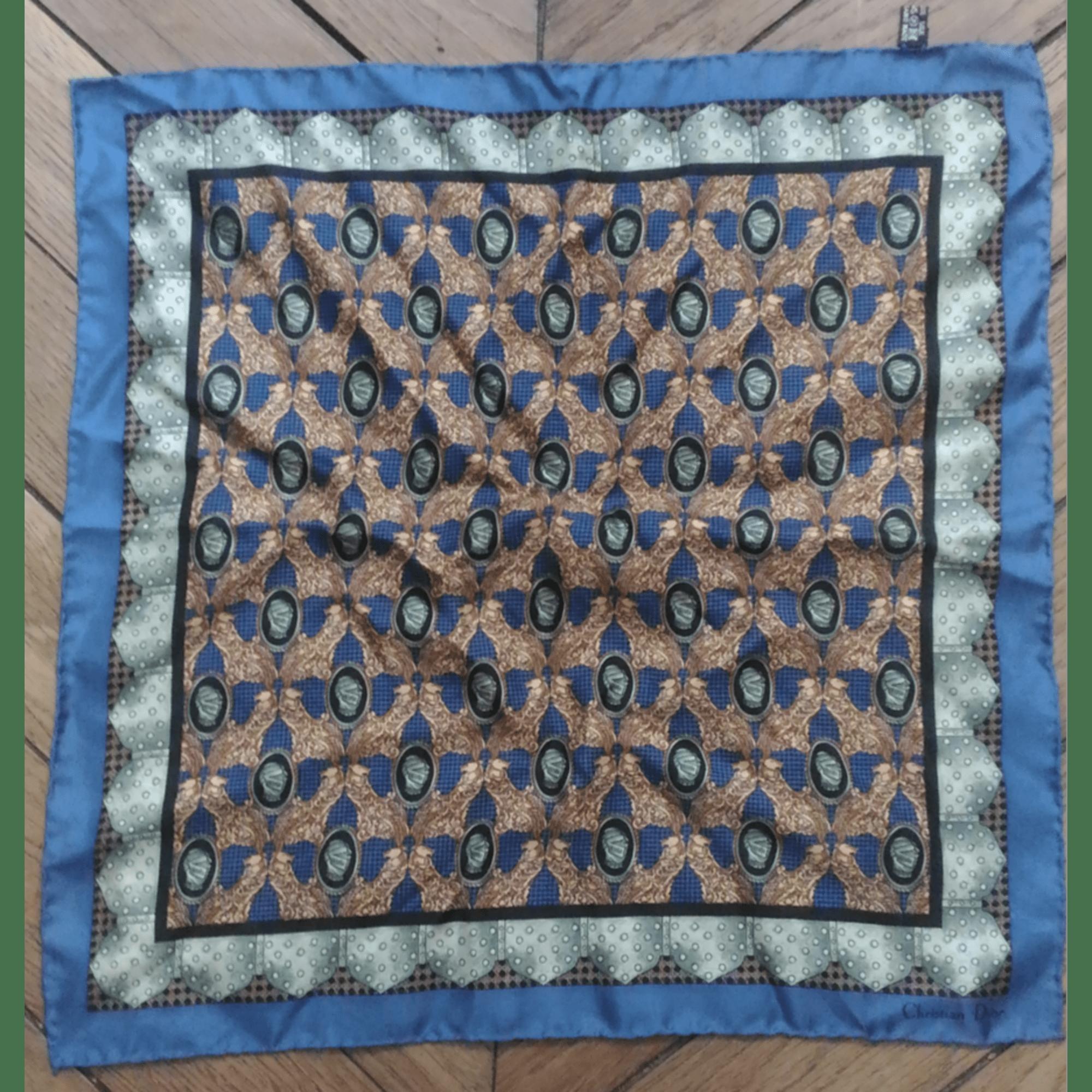 Foulard DIOR Bleu, bleu marine, bleu turquoise