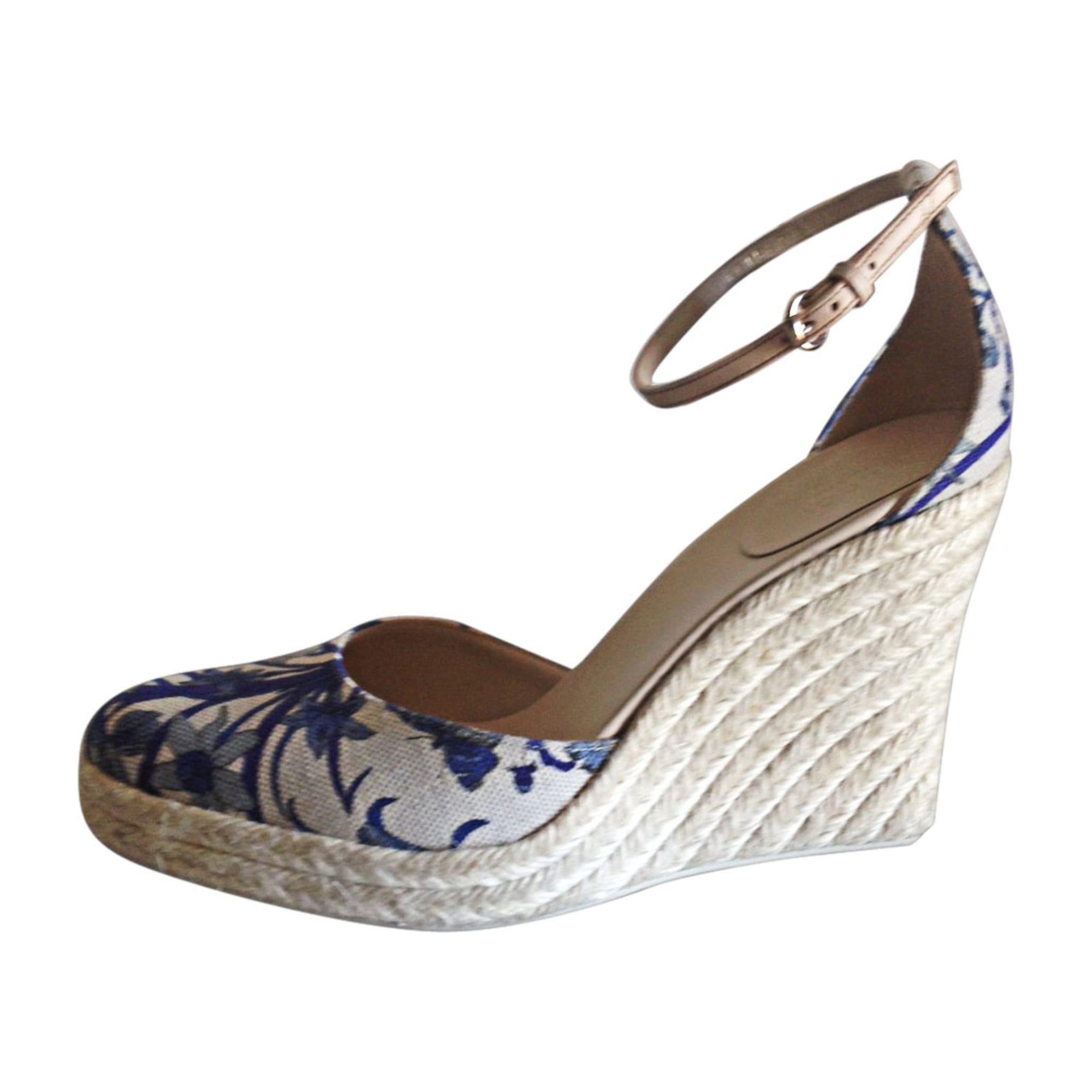 Sandales compensées GUCCI Blanc, blanc cassé, écru