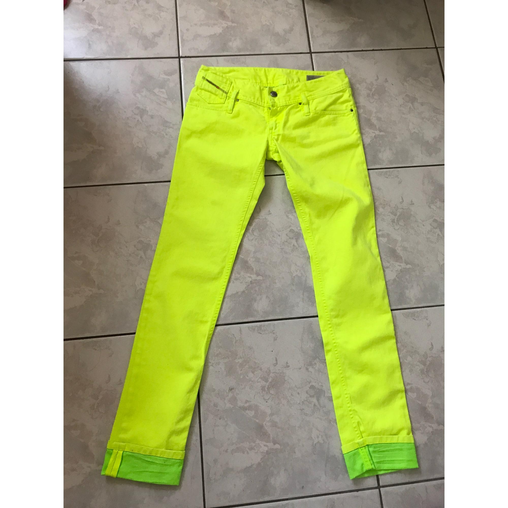 Jeans droit DIESEL Jaune