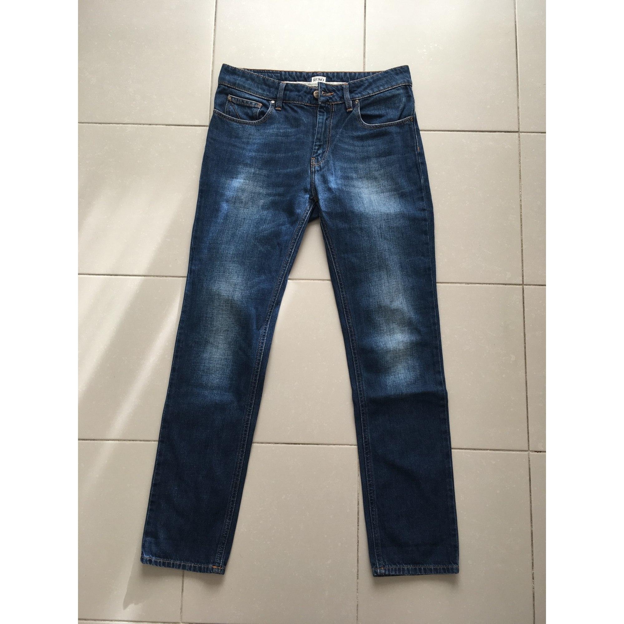 Jeans droit REIKO Bleu, bleu marine, bleu turquoise