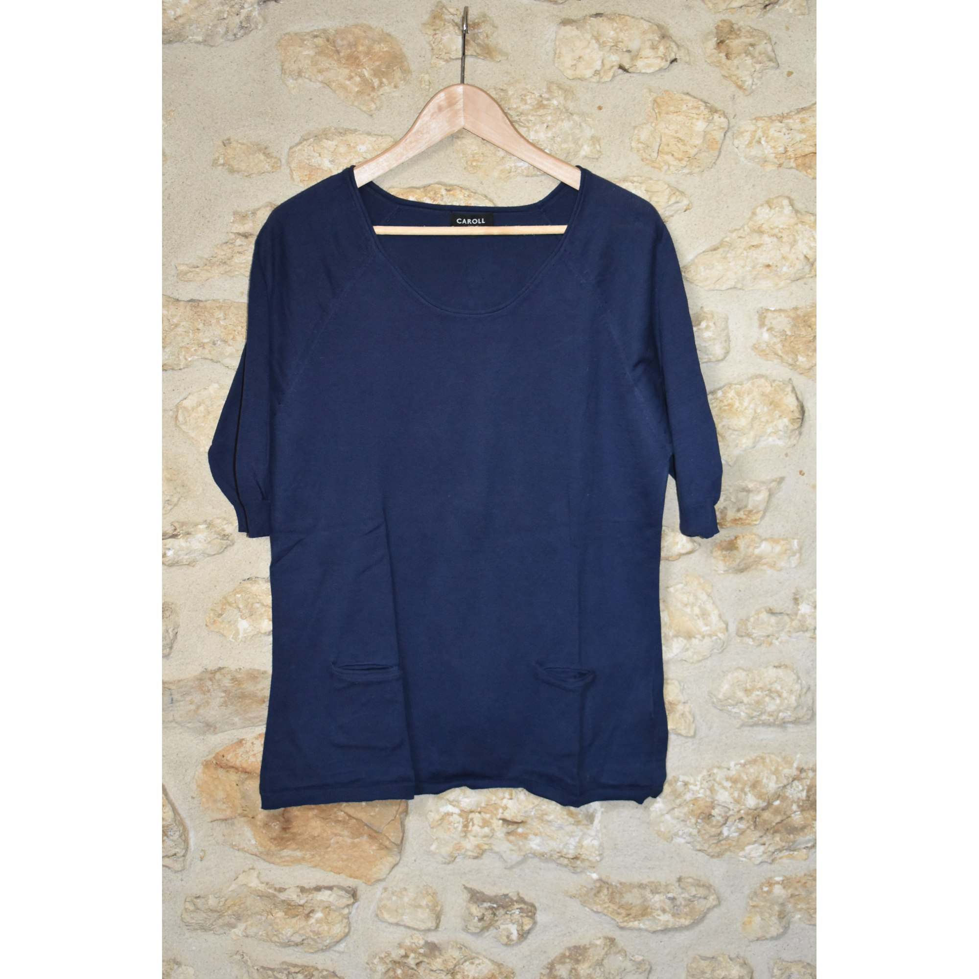Pull tunique CAROLL Bleu, bleu marine, bleu turquoise