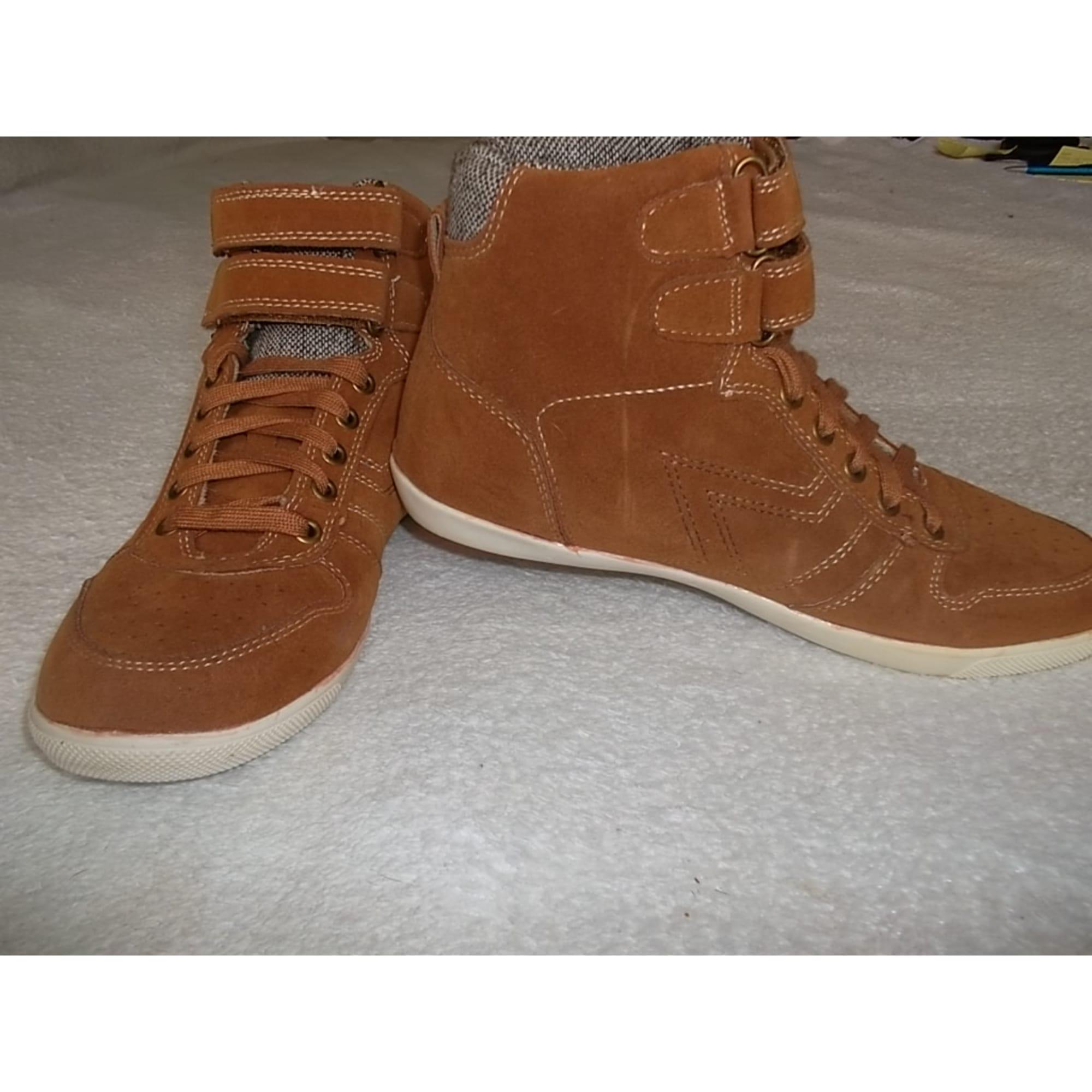 Bottines & low boots plates CREEKS Beige, camel