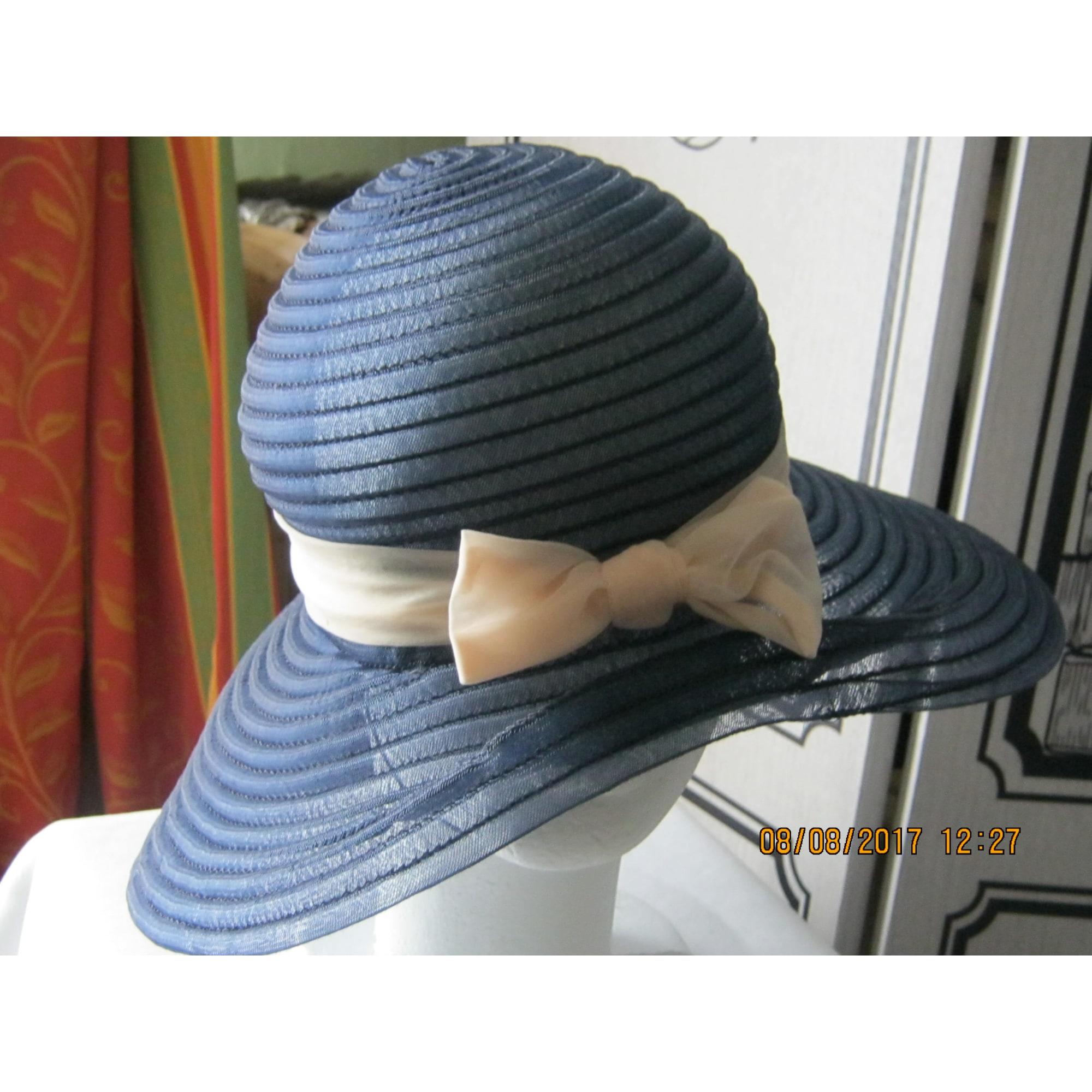 Chapeau INCONNU Bleu, bleu marine, bleu turquoise