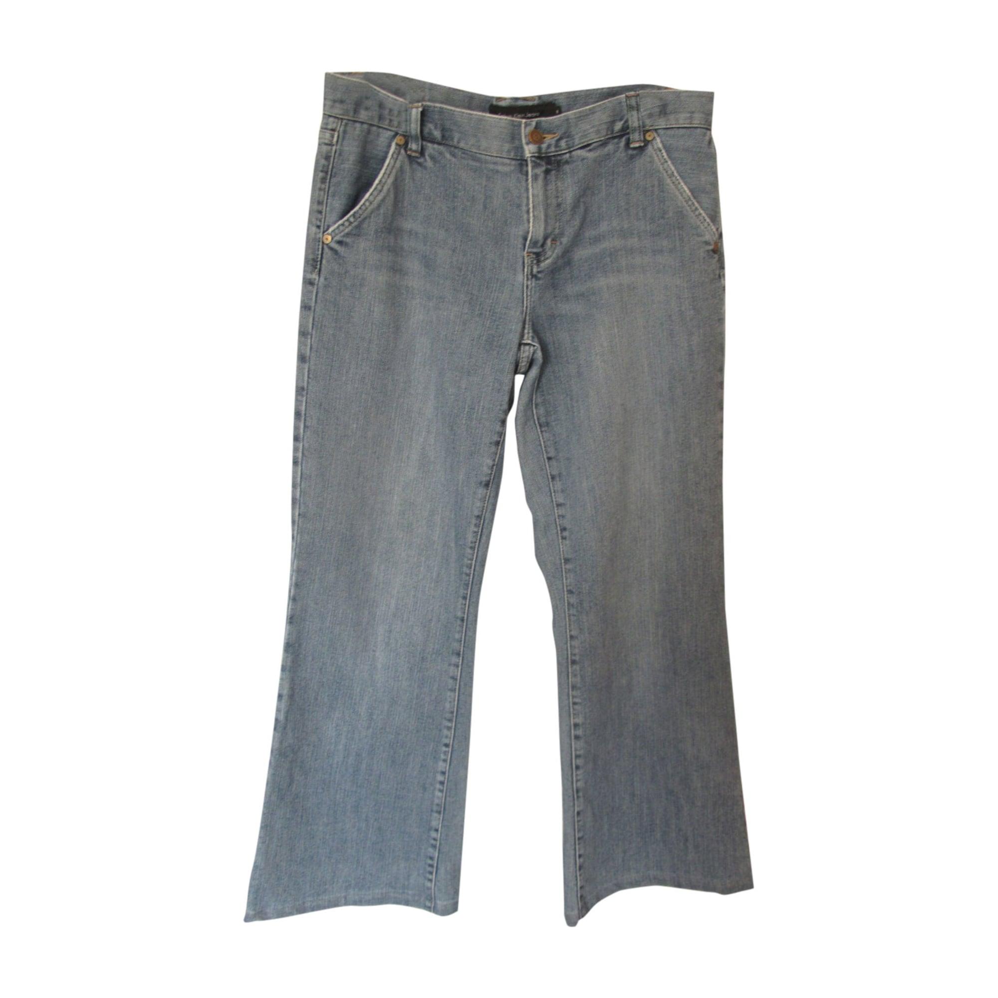 Jeans très evasé, patte d'éléphant CALVIN KLEIN Bleu, bleu marine, bleu turquoise