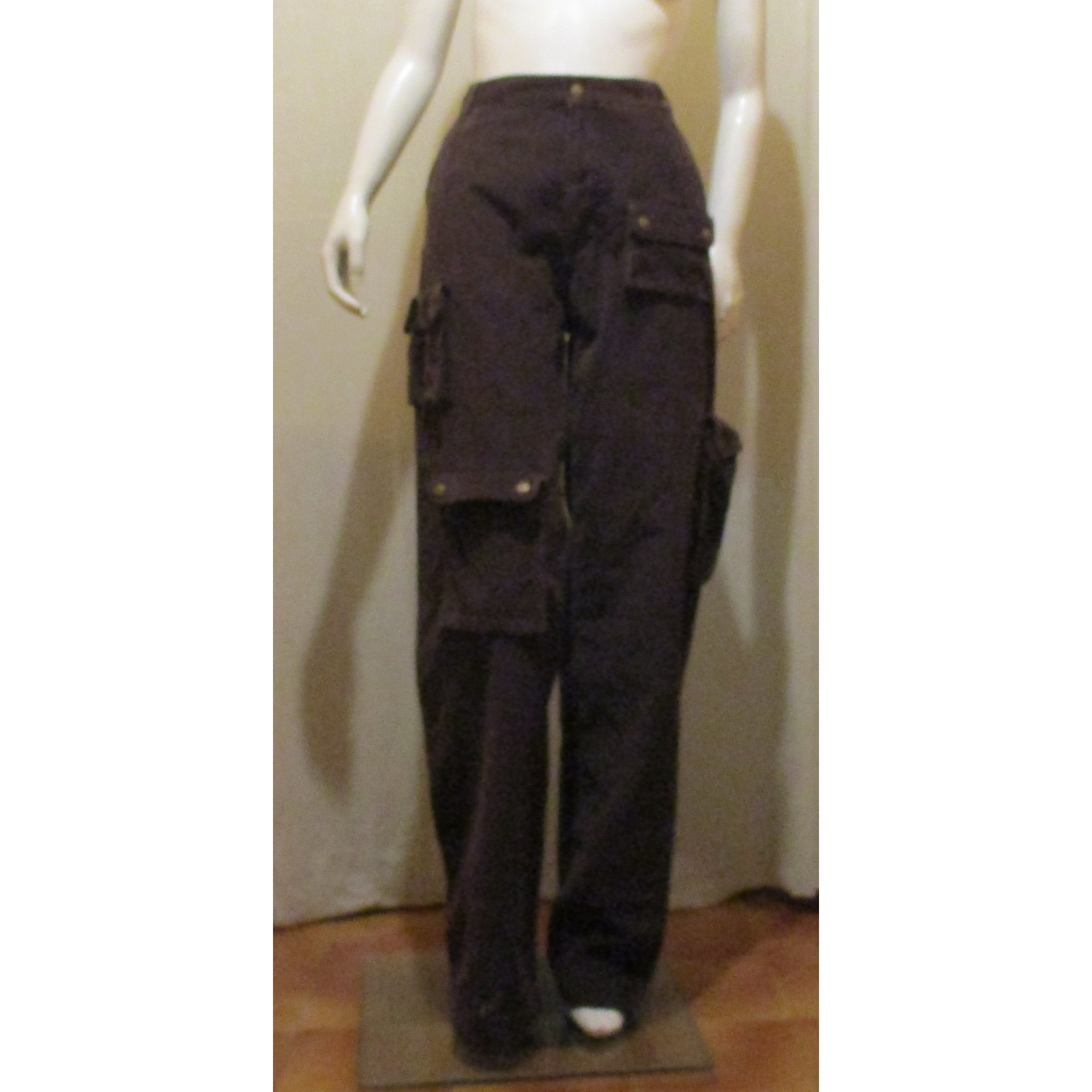 Pantalon droit CHEVIGNON Marron