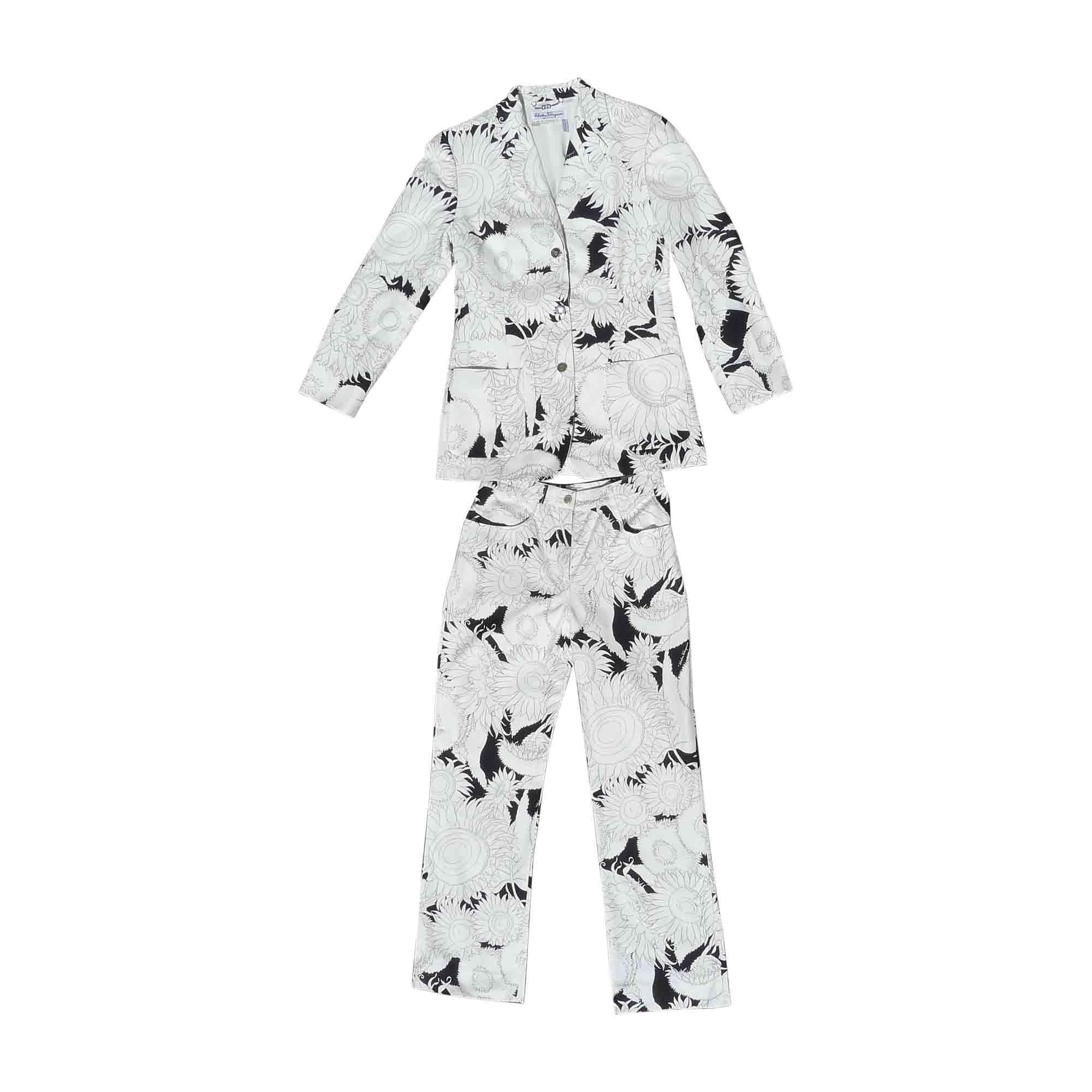 Tailleur pantalon SALVATORE FERRAGAMO Multicouleur