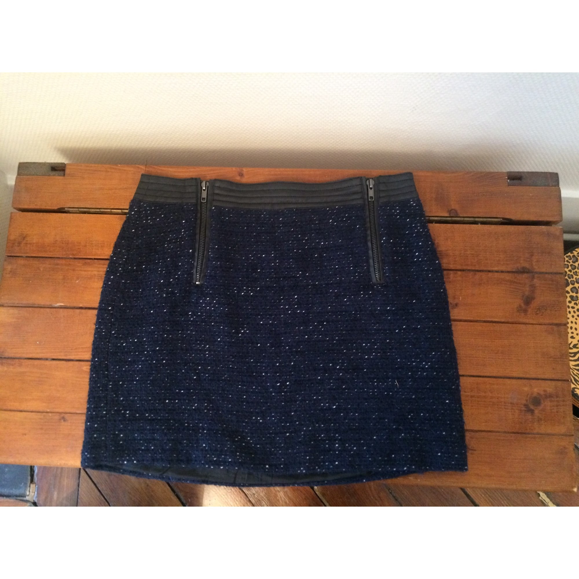 Jupe courte MKT Bleu, bleu marine, bleu turquoise