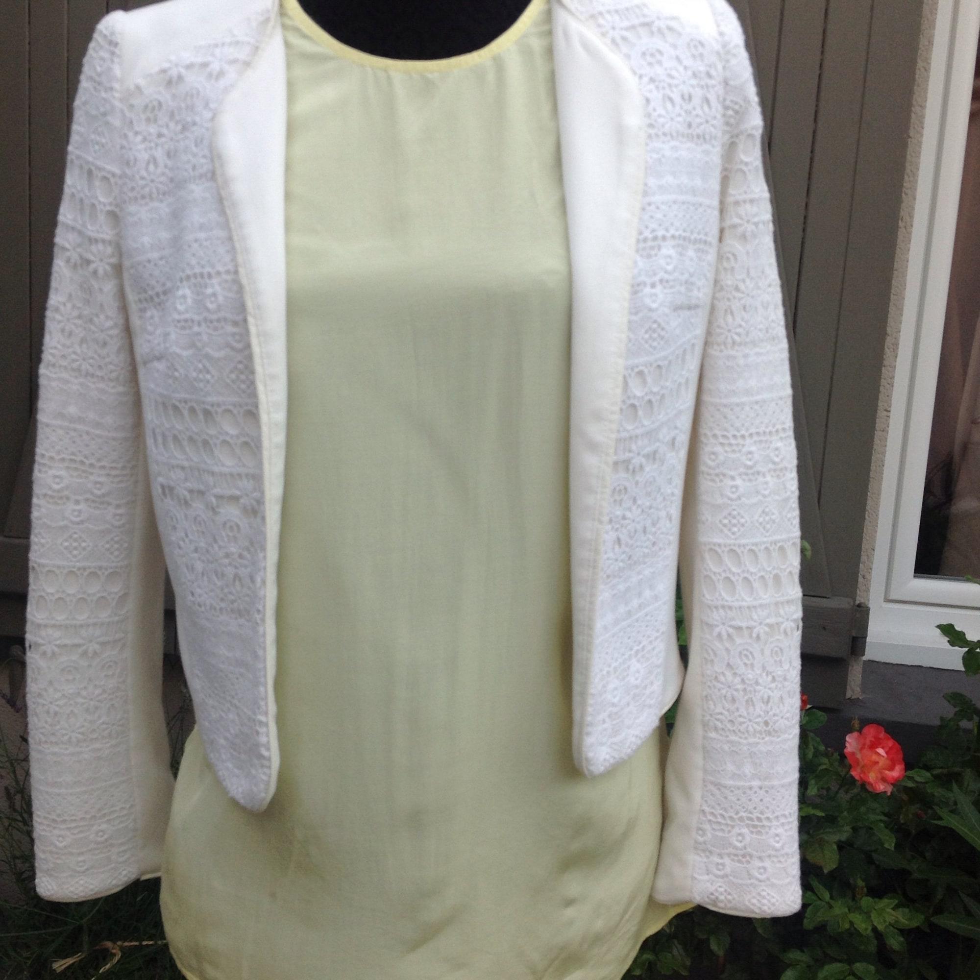 Blazer, veste tailleur H&M Blanc, blanc cassé, écru
