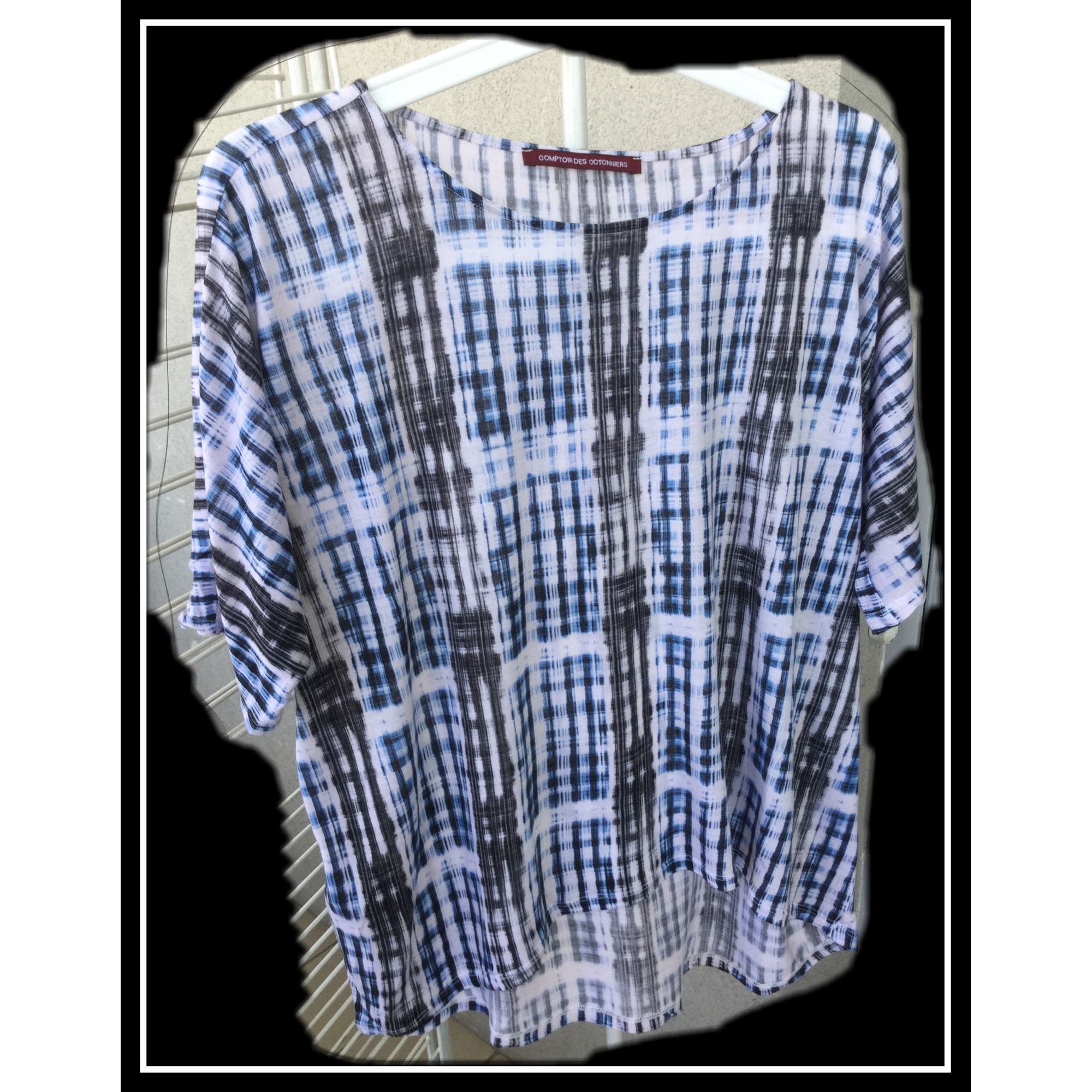 Top, tee-shirt COMPTOIR DES COTONNIERS Bleu, bleu marine, bleu turquoise