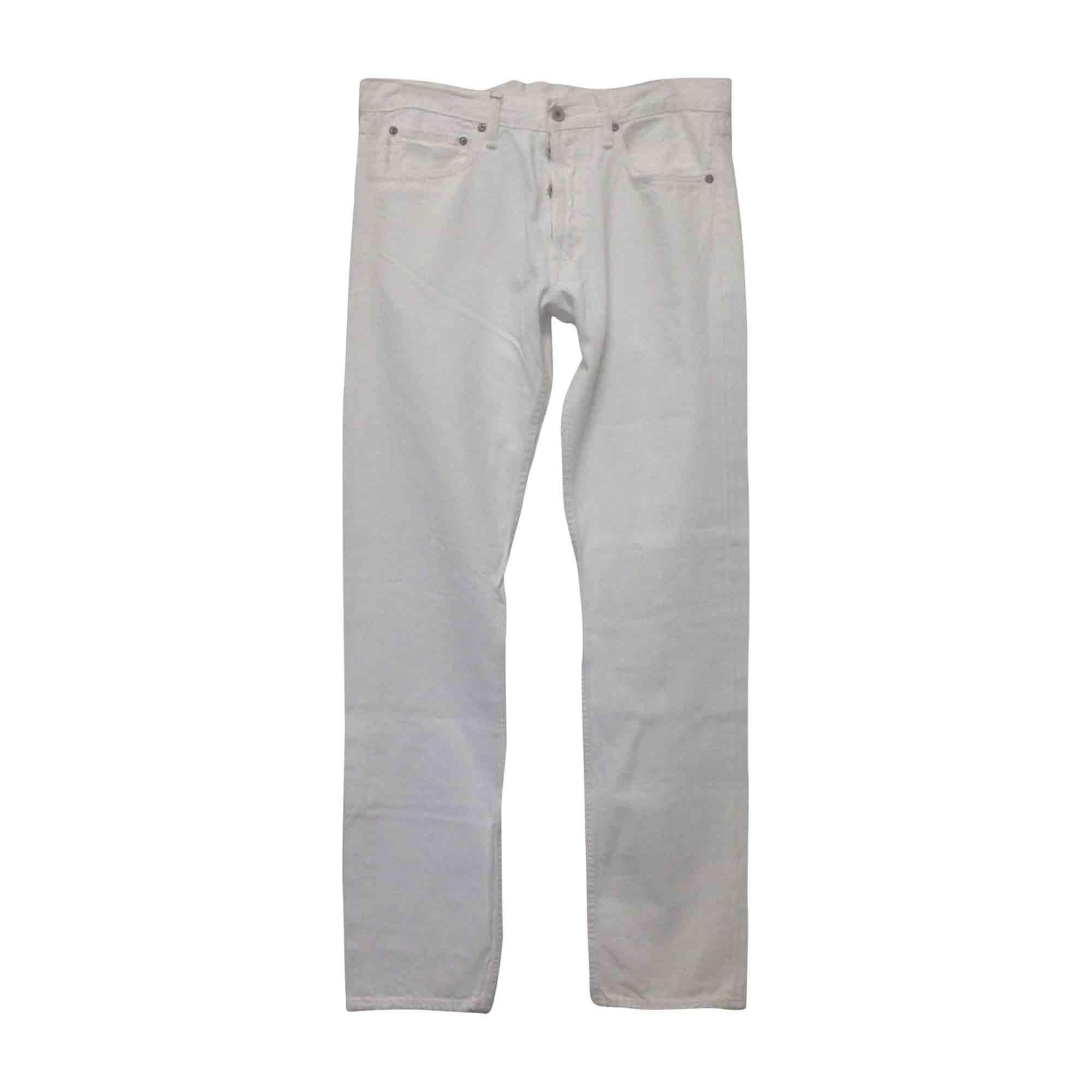 Pantalon slim RALPH LAUREN Blanc, blanc cassé, écru