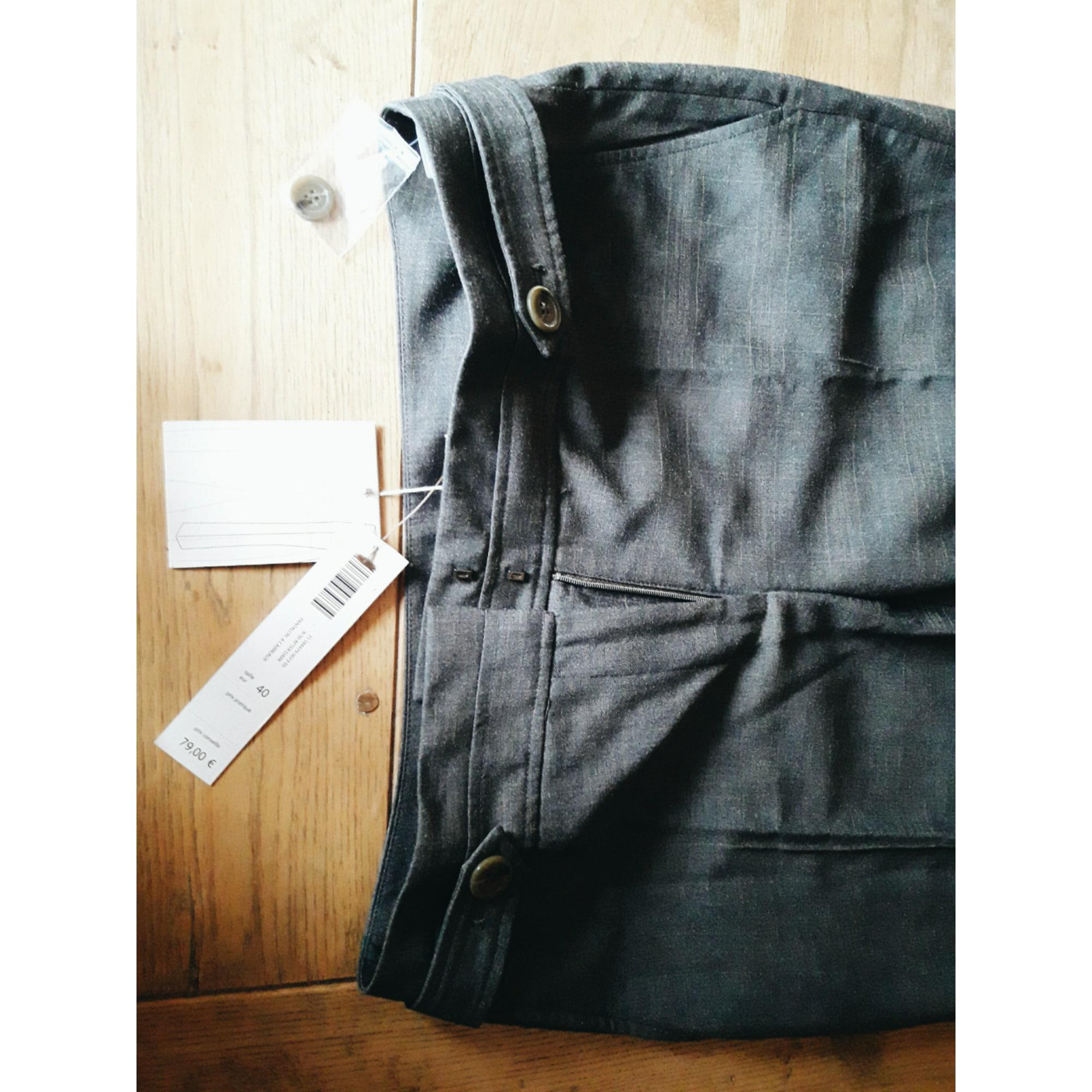 Pantalon large SERGE MANOUKIAN Gris, anthracite