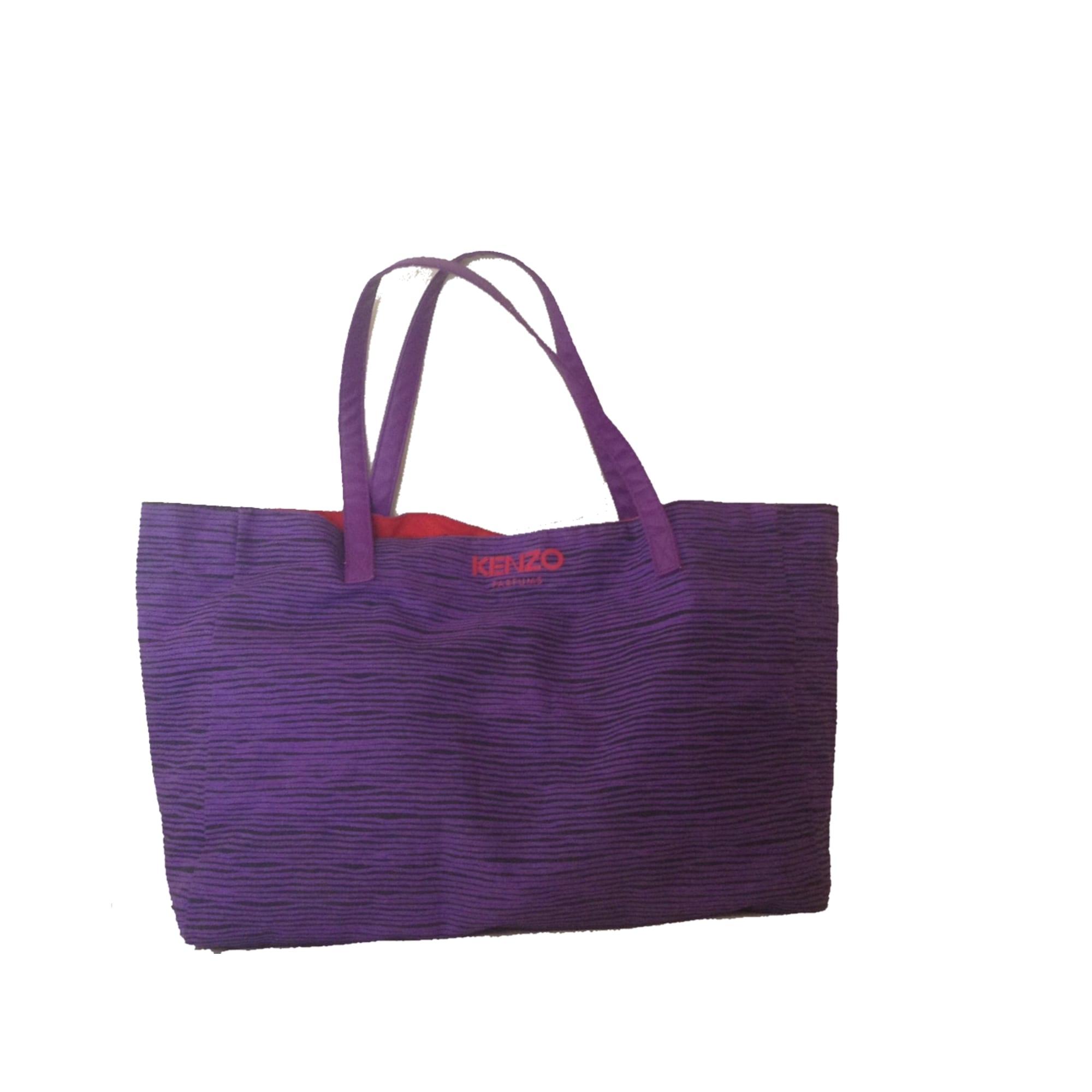 Sac XL en tissu KENZO Violet, mauve, lavande