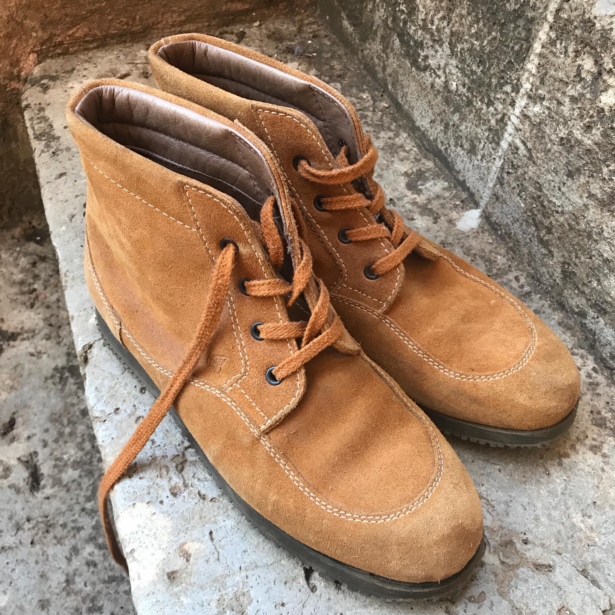 Bottines & low boots plates HOGAN Beige, camel