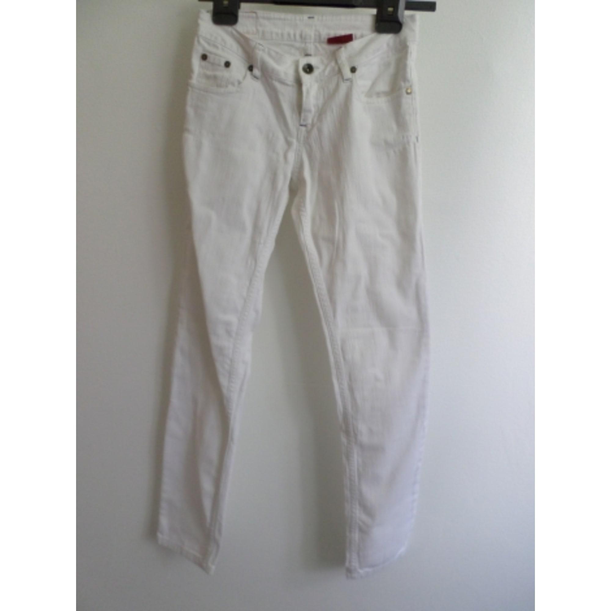 Jeans slim LEVI'S Blanc, blanc cassé, écru