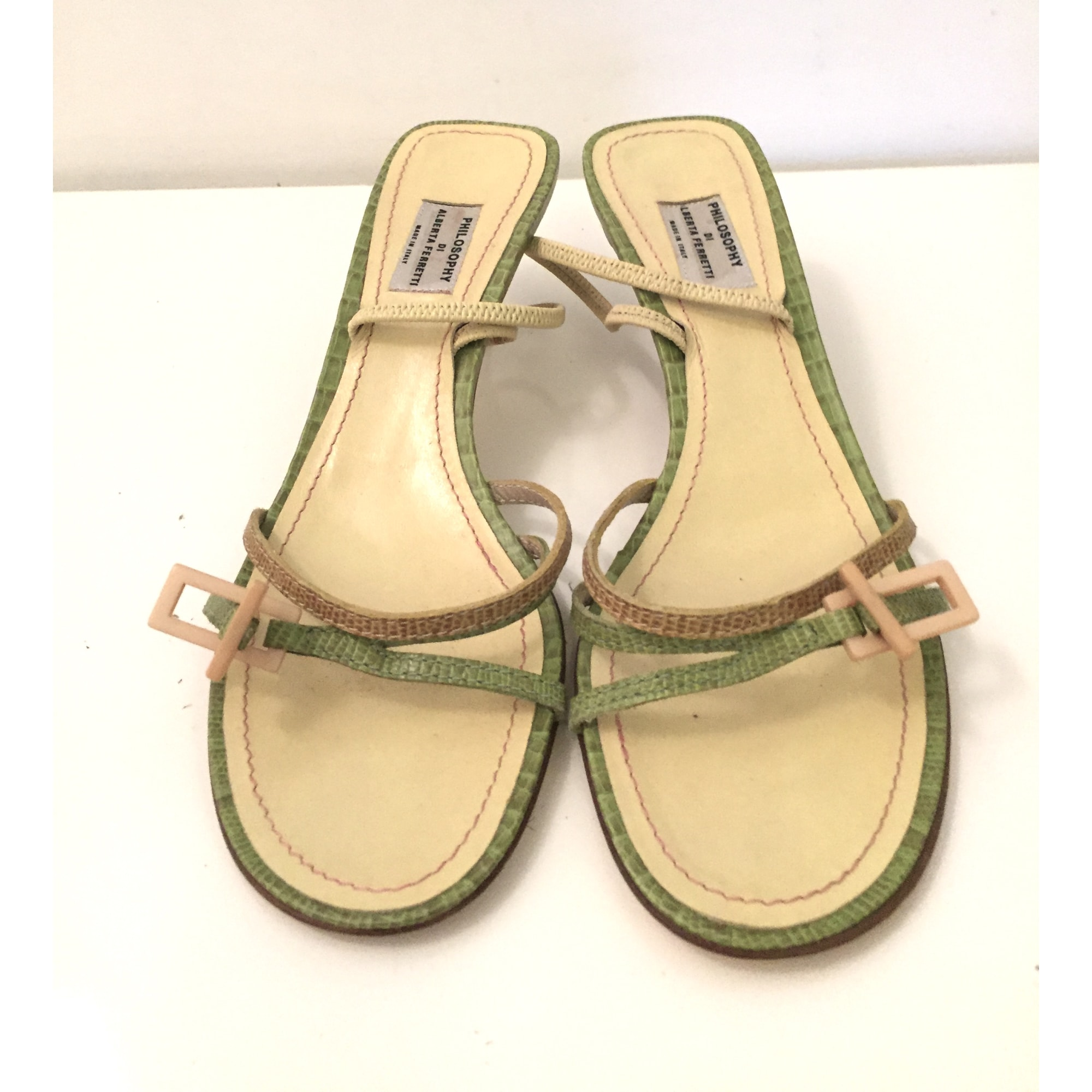 Sandales compensées PHILOSOPHY DI ALBERTA FERRETI Vert