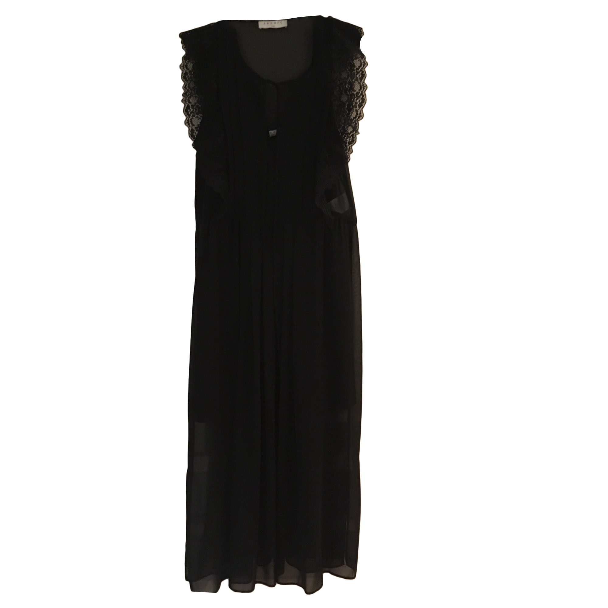 Robe longue SANDRO Noir