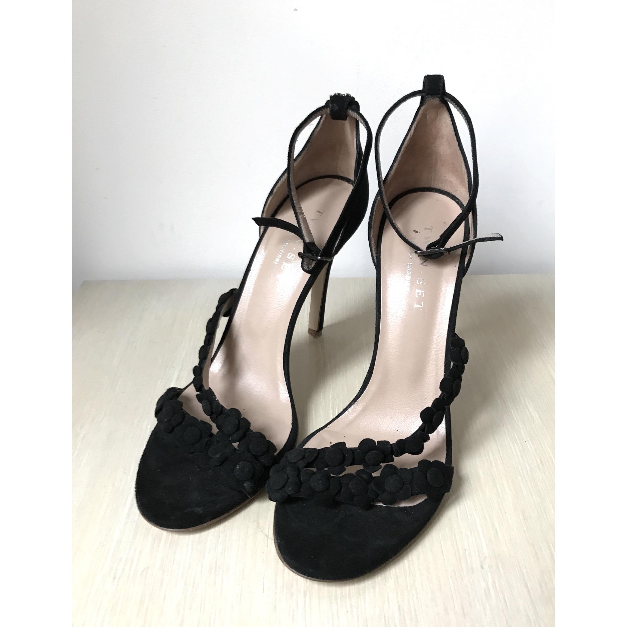 Sandales à talons TWIN-SET SIMONA BARBIERI Noir