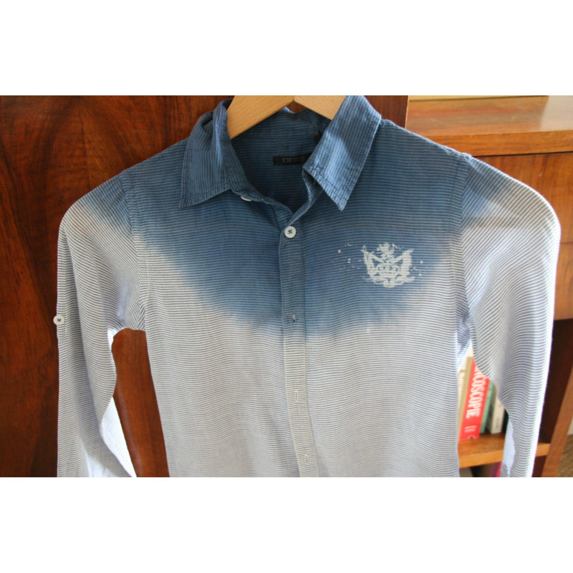 Chemise IKKS Bleu, bleu marine, bleu turquoise