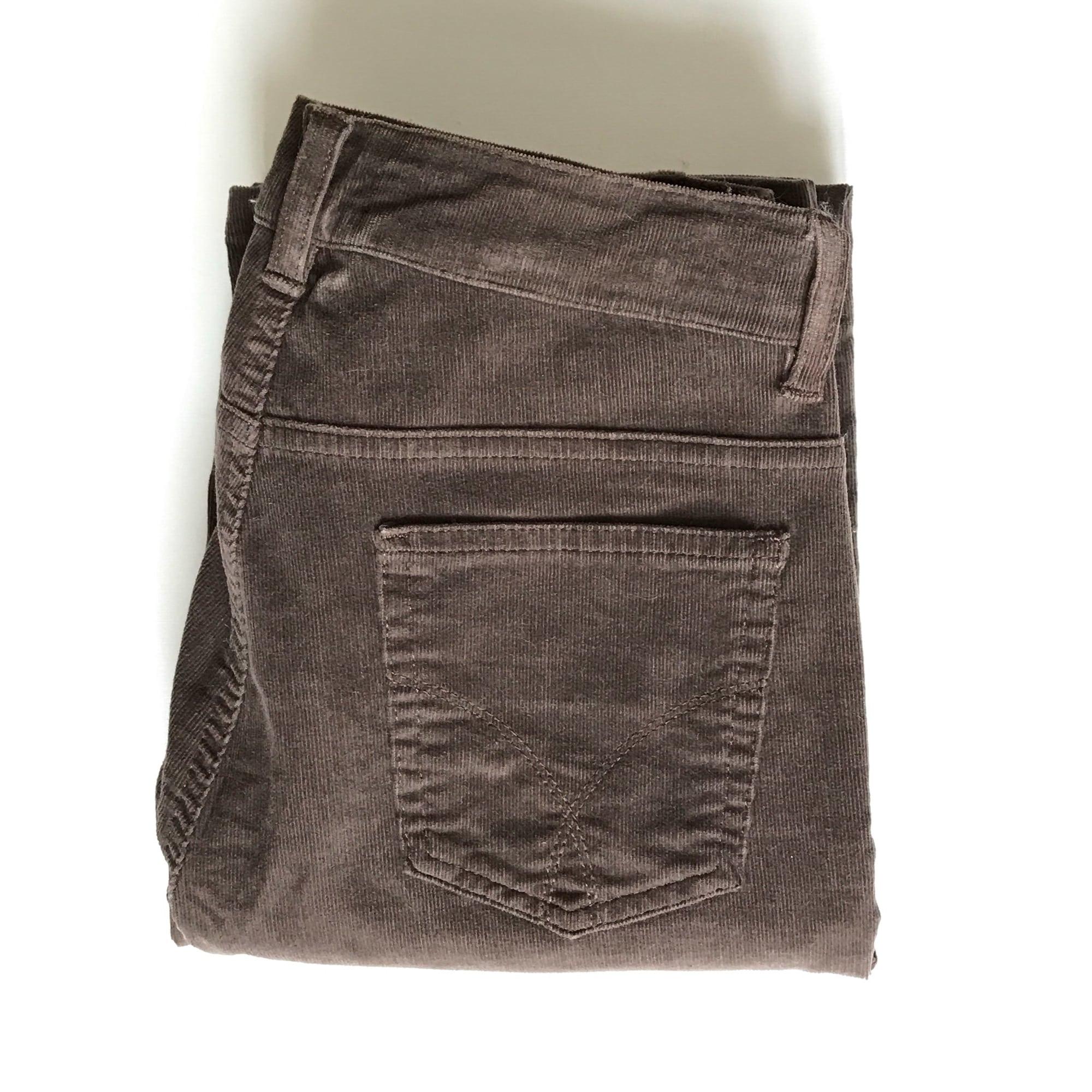 Pantalon droit CAROLL Marron