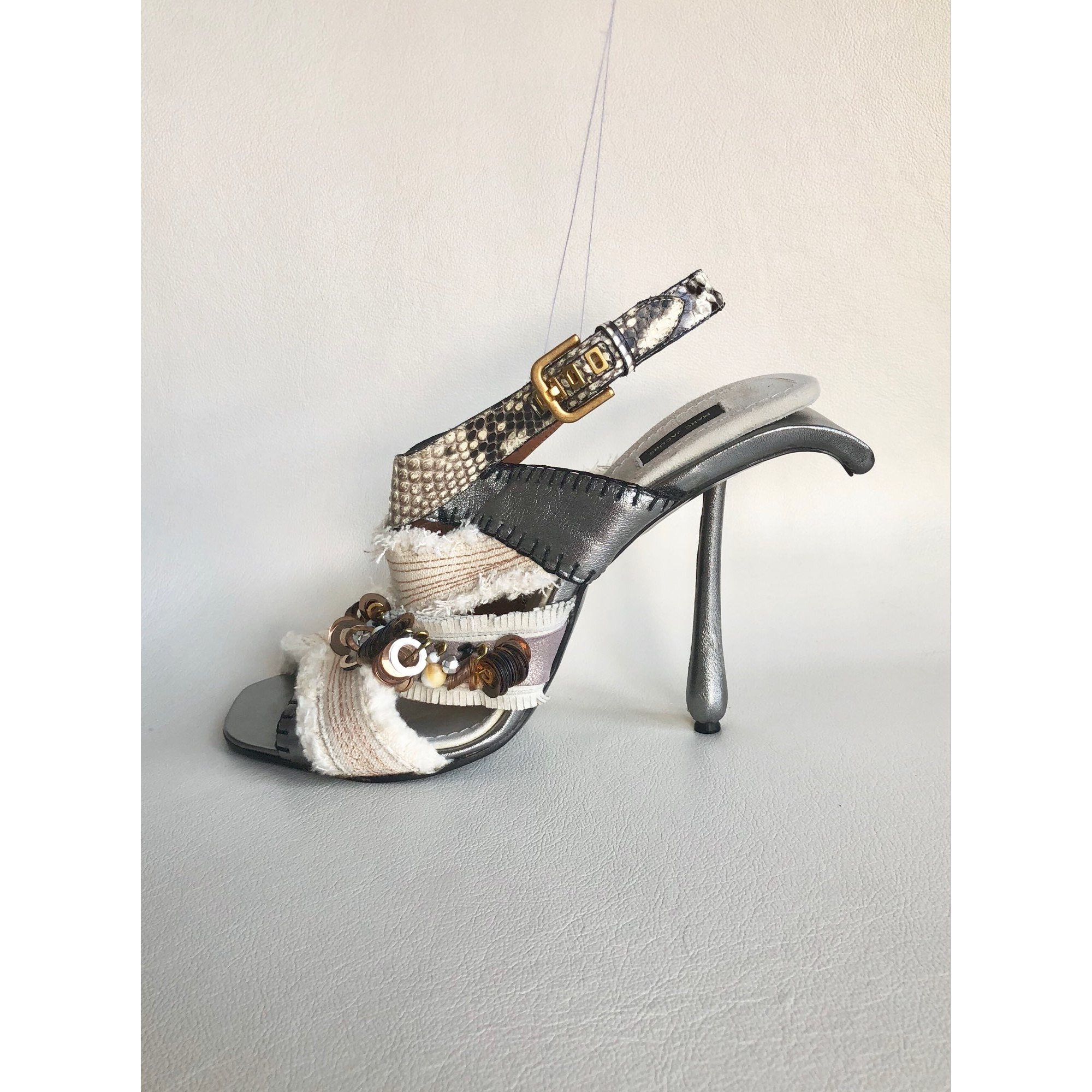 Sandales à talons MARC JACOBS Blanc, blanc cassé, écru