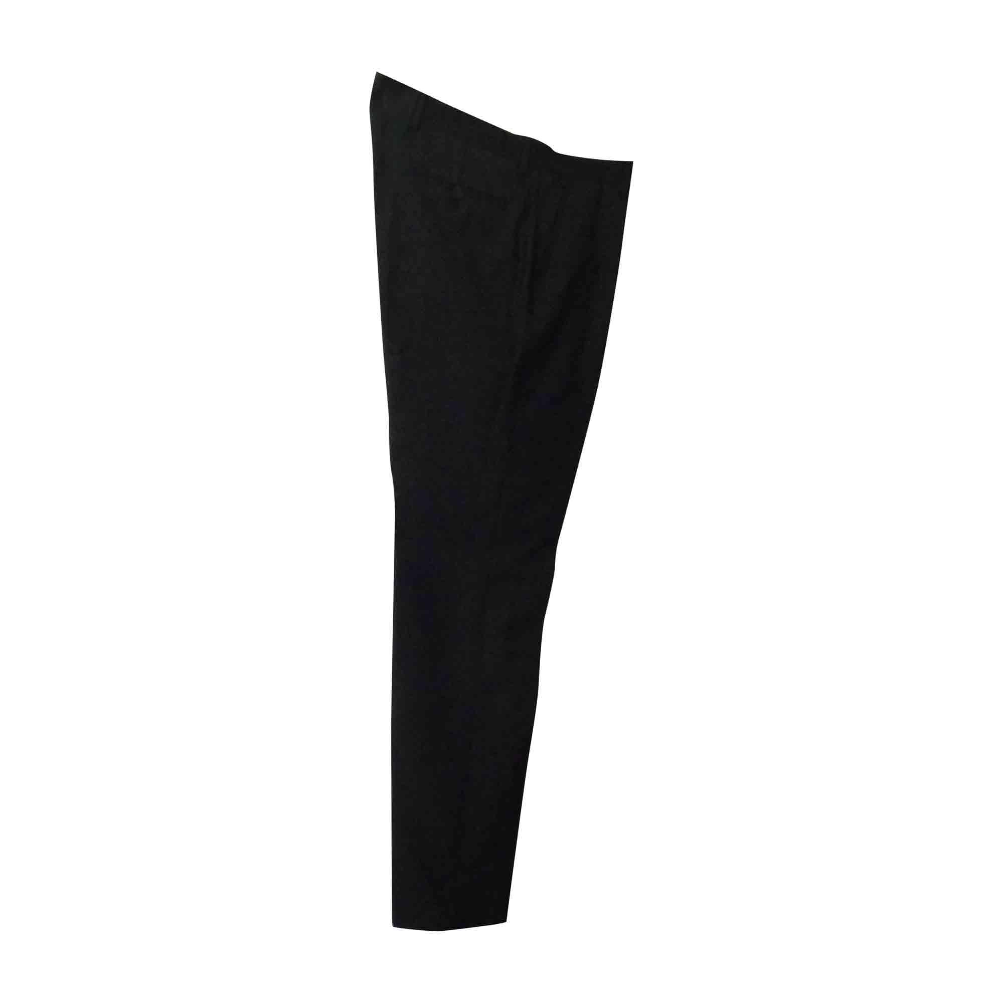Pantalon droit LANVIN Gris, anthracite