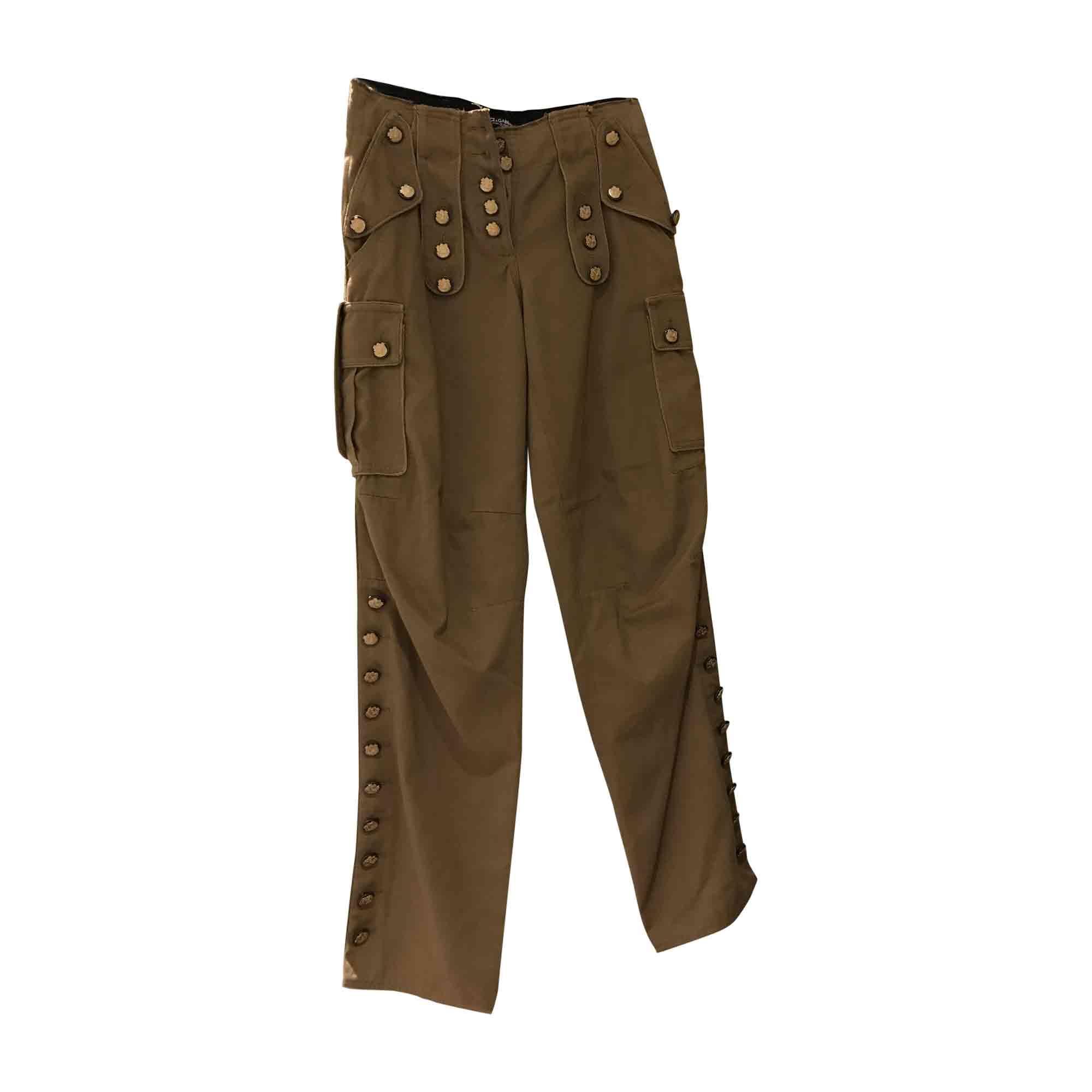 Pantalon droit DOLCE & GABBANA Beige, camel