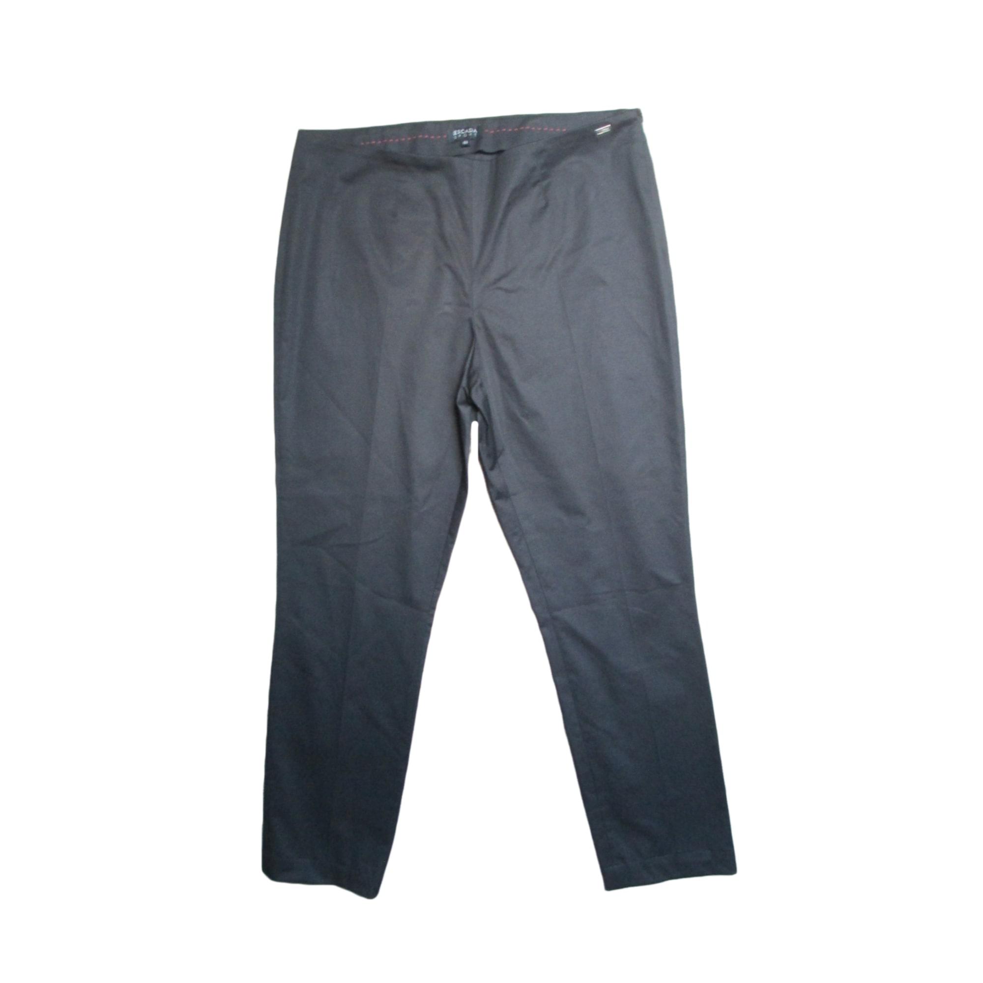 Pantalon droit ESCADA Noir
