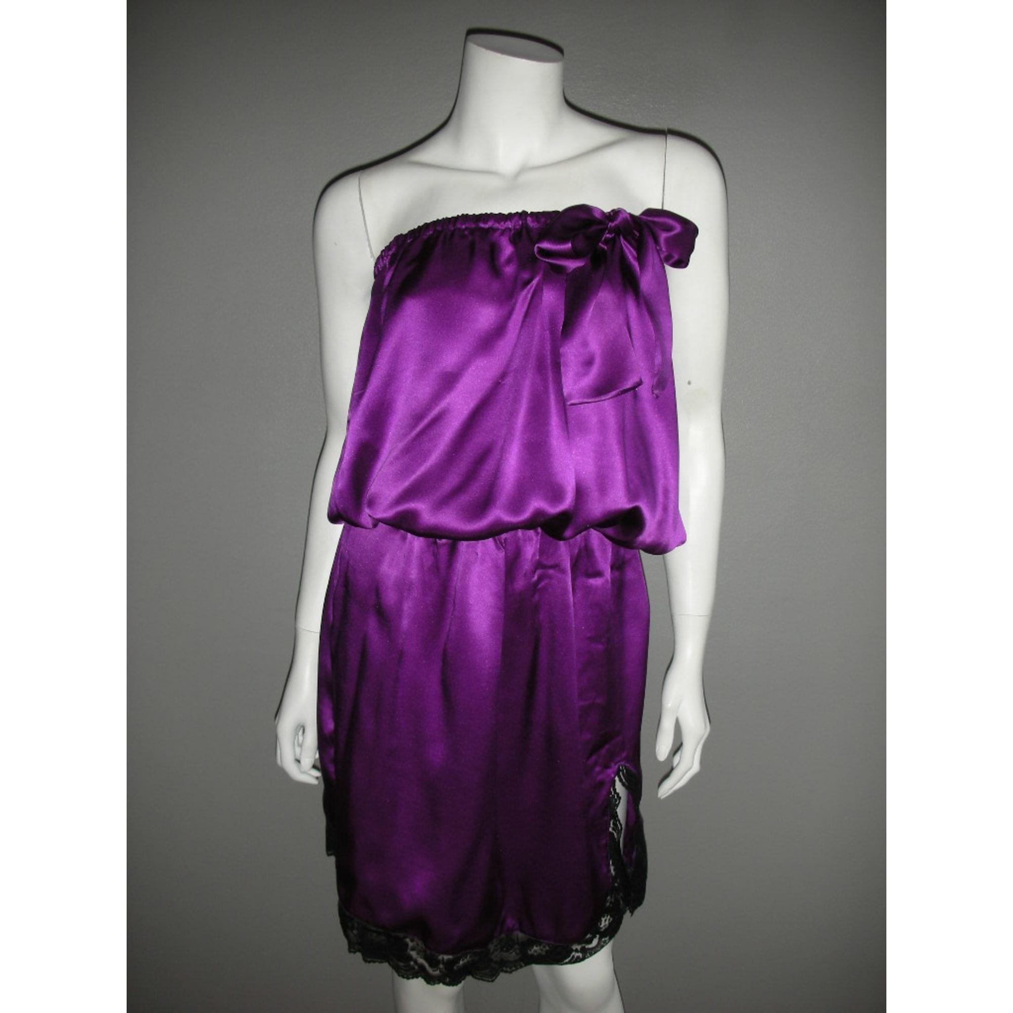 Robe bustier MHAND'S HOPE Violet, mauve, lavande