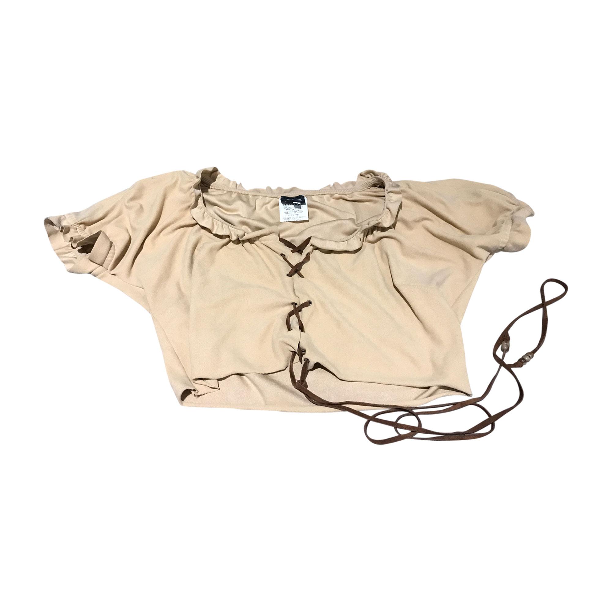 Top, tee-shirt D&G Beige, camel