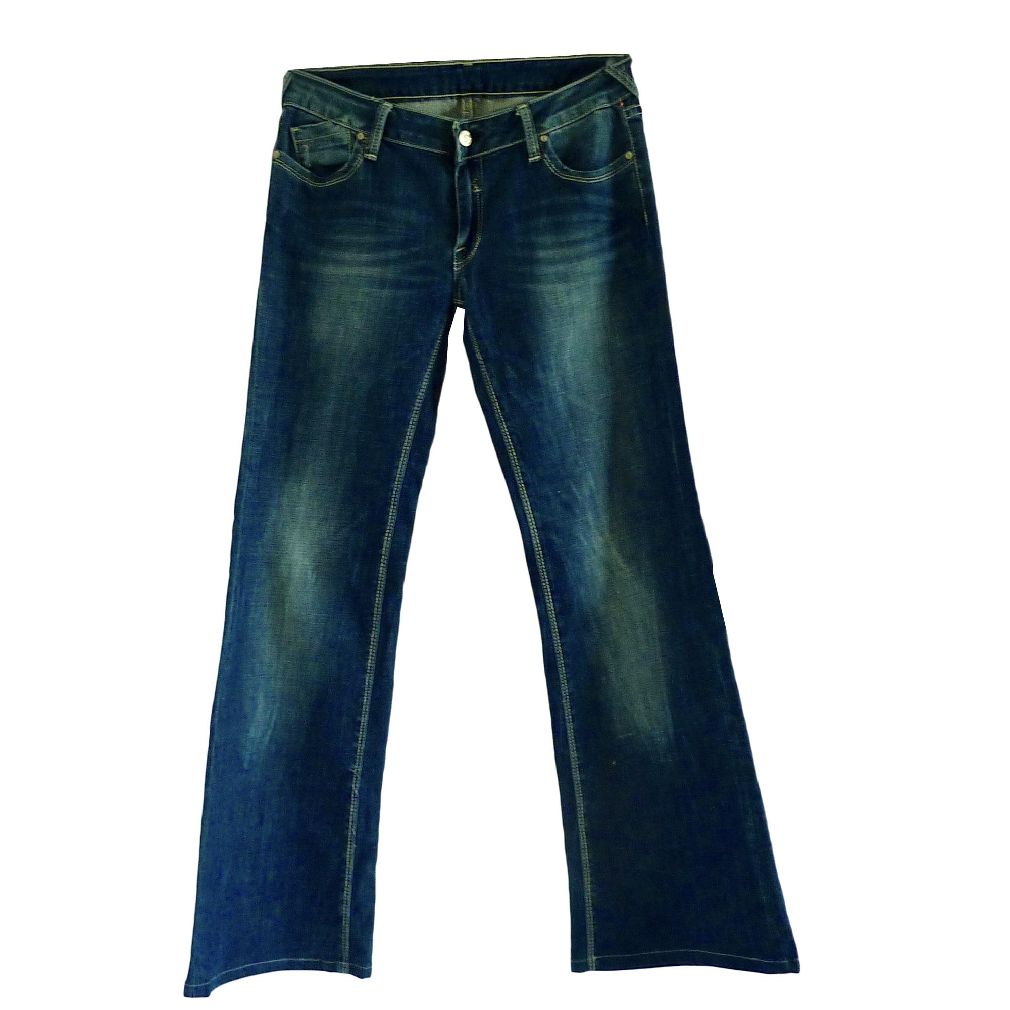Jeans très evasé, patte d'éléphant LE TEMPS DES CERISES Bleu, bleu marine, bleu turquoise