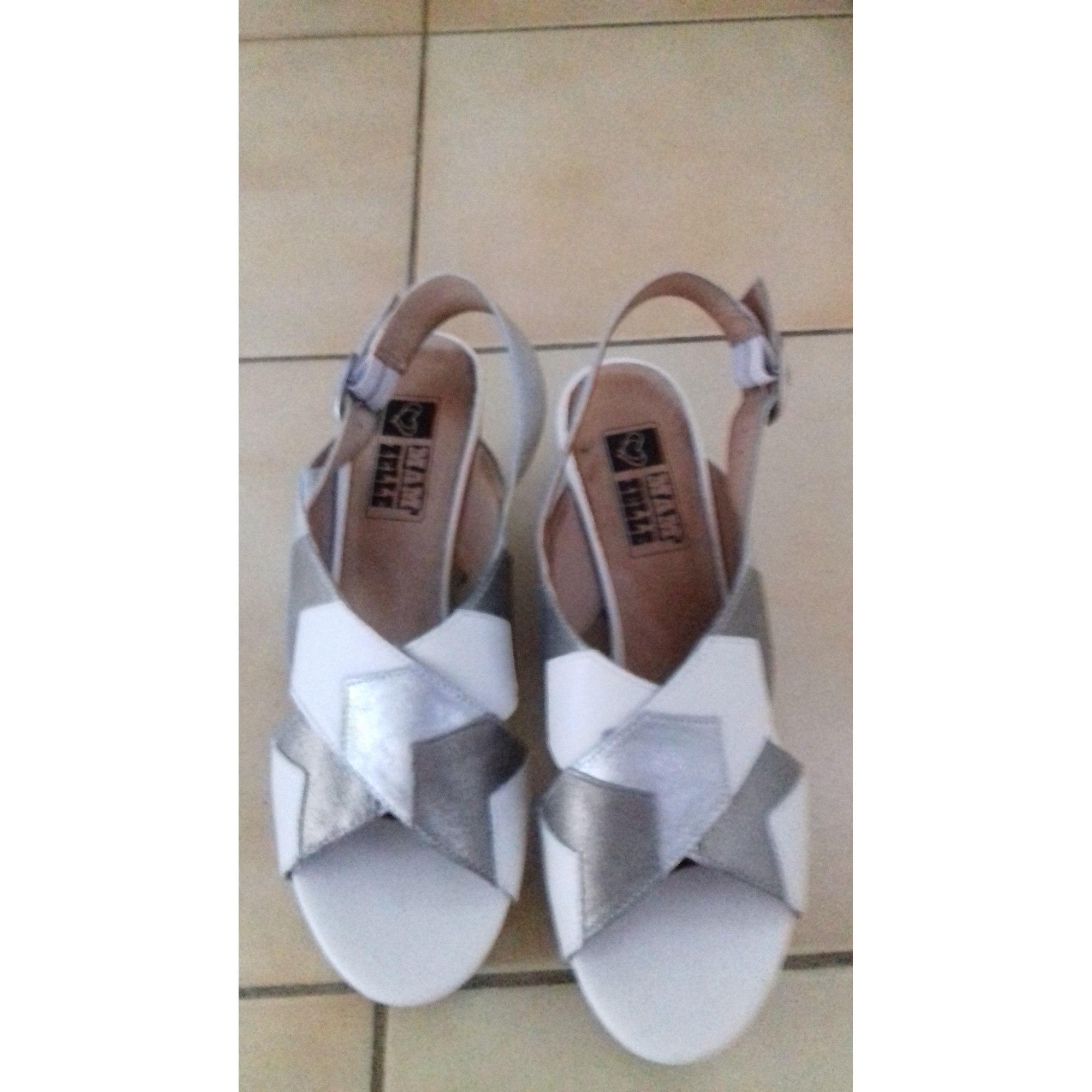 Sandales compensées MAM ZELLE Blanc, blanc cassé, écru