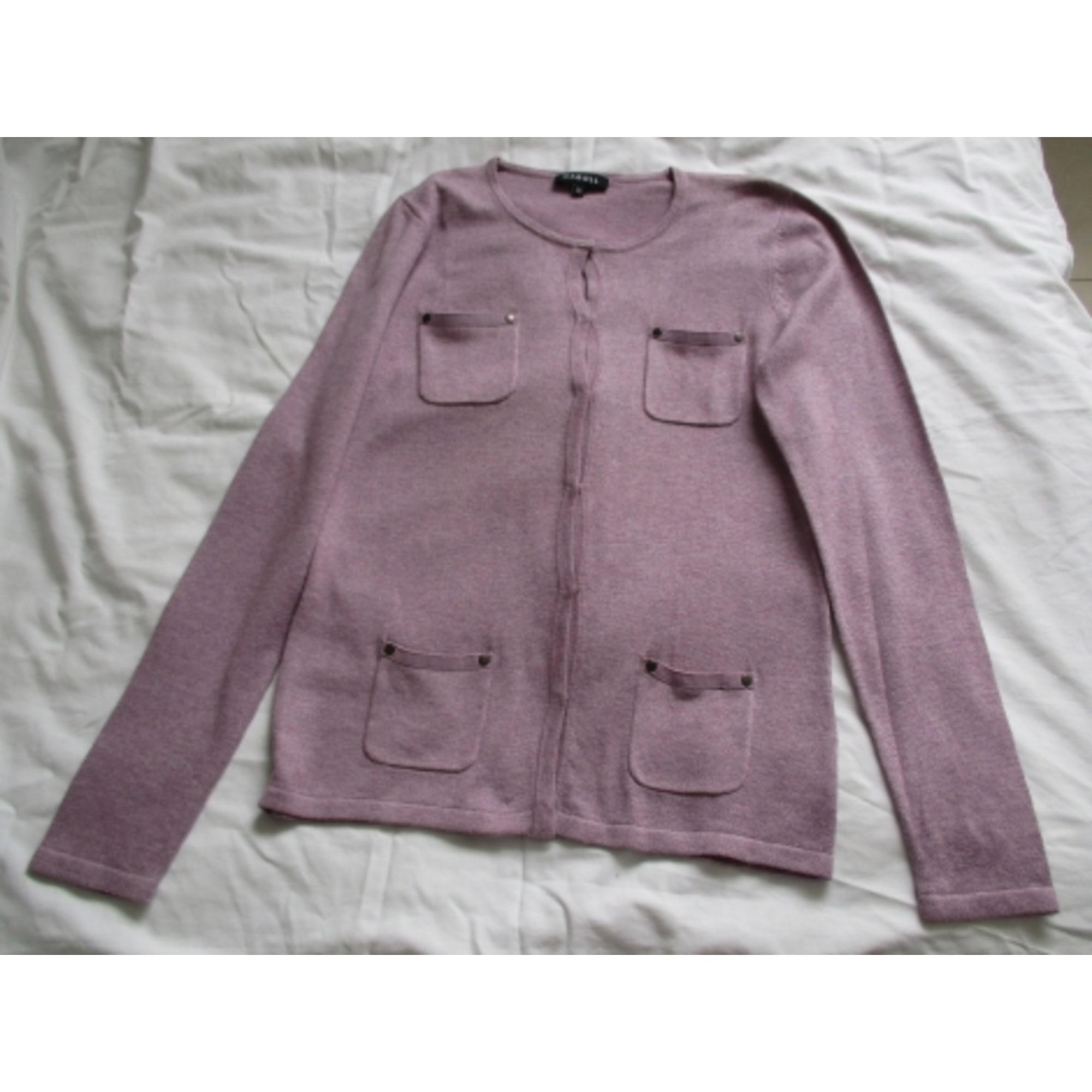 Gilet, cardigan CAROLL Violet, mauve, lavande
