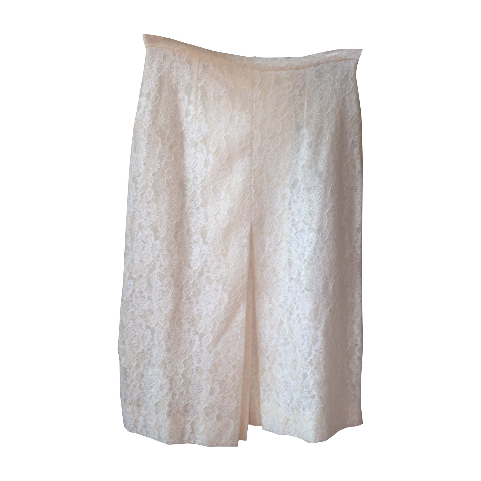 Jupe mi-longue CÉLINE Blanc, blanc cassé, écru